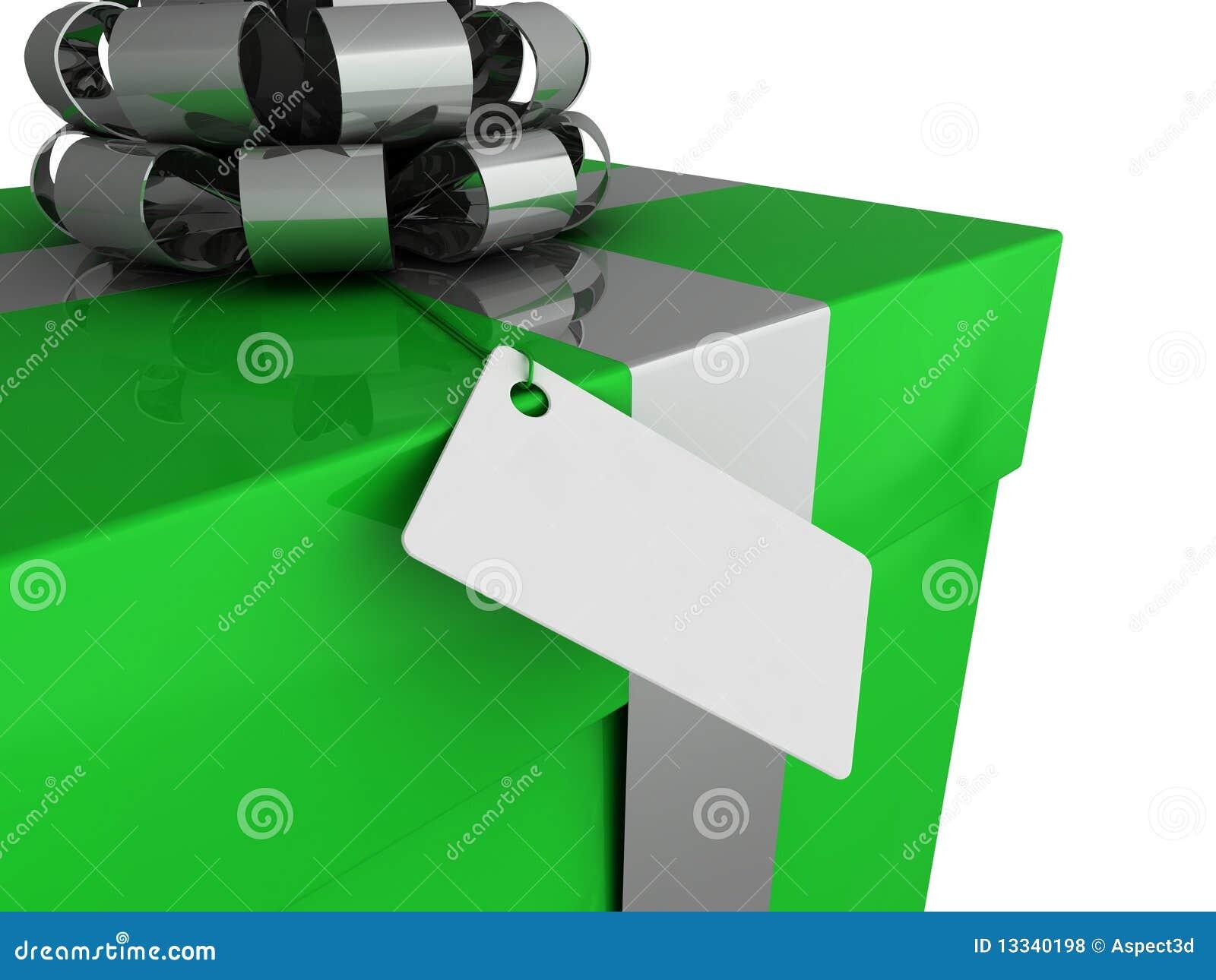 Prezent pudełkowata etykietka