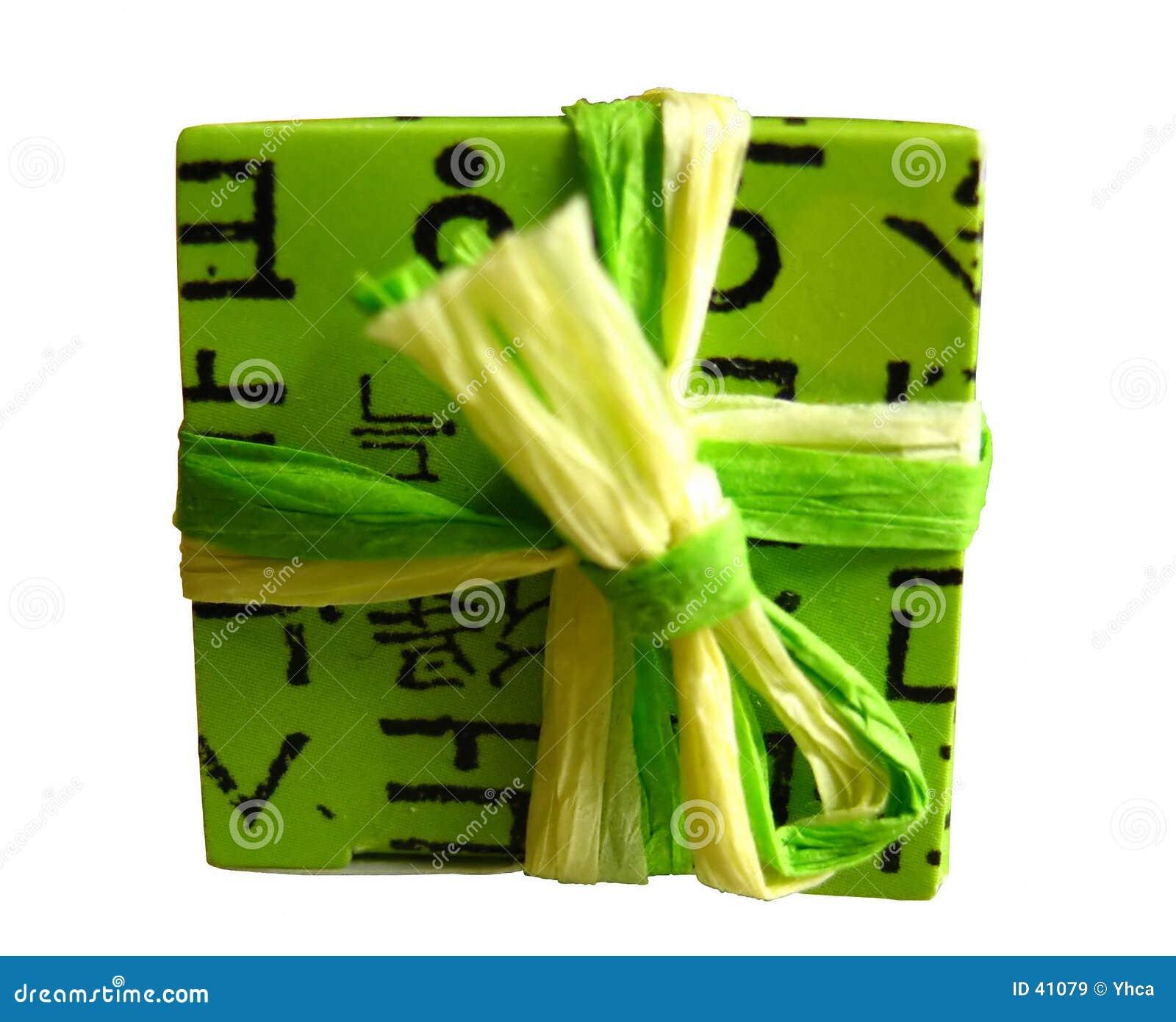 Prezent pudełkowata green opakowane
