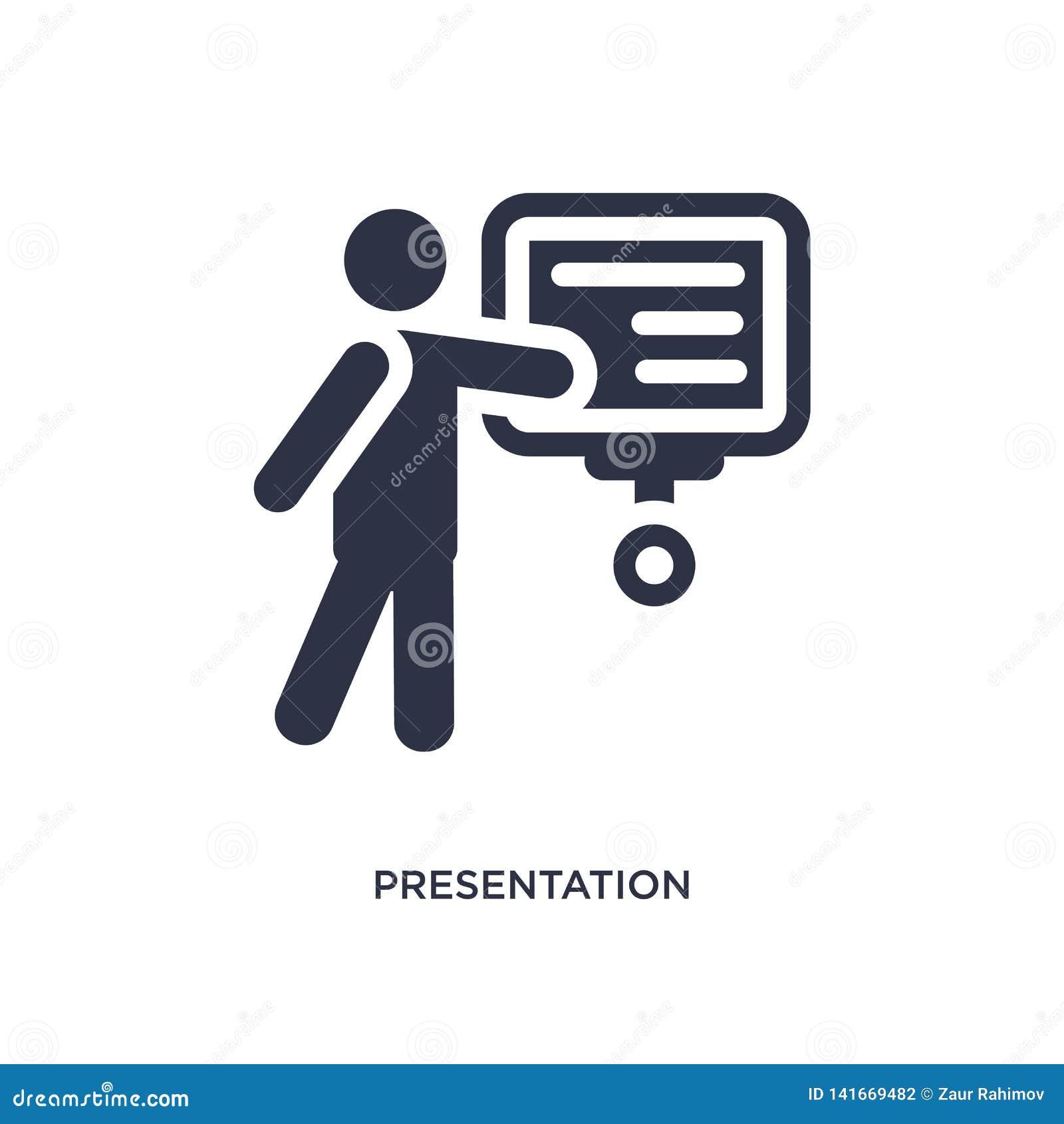 Prezentacji whiteboard ikona na białym tle Prosta element ilustracja od zachowania pojęcia