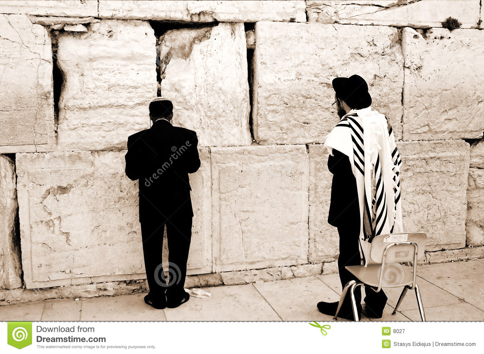 Prière par le mur occidental