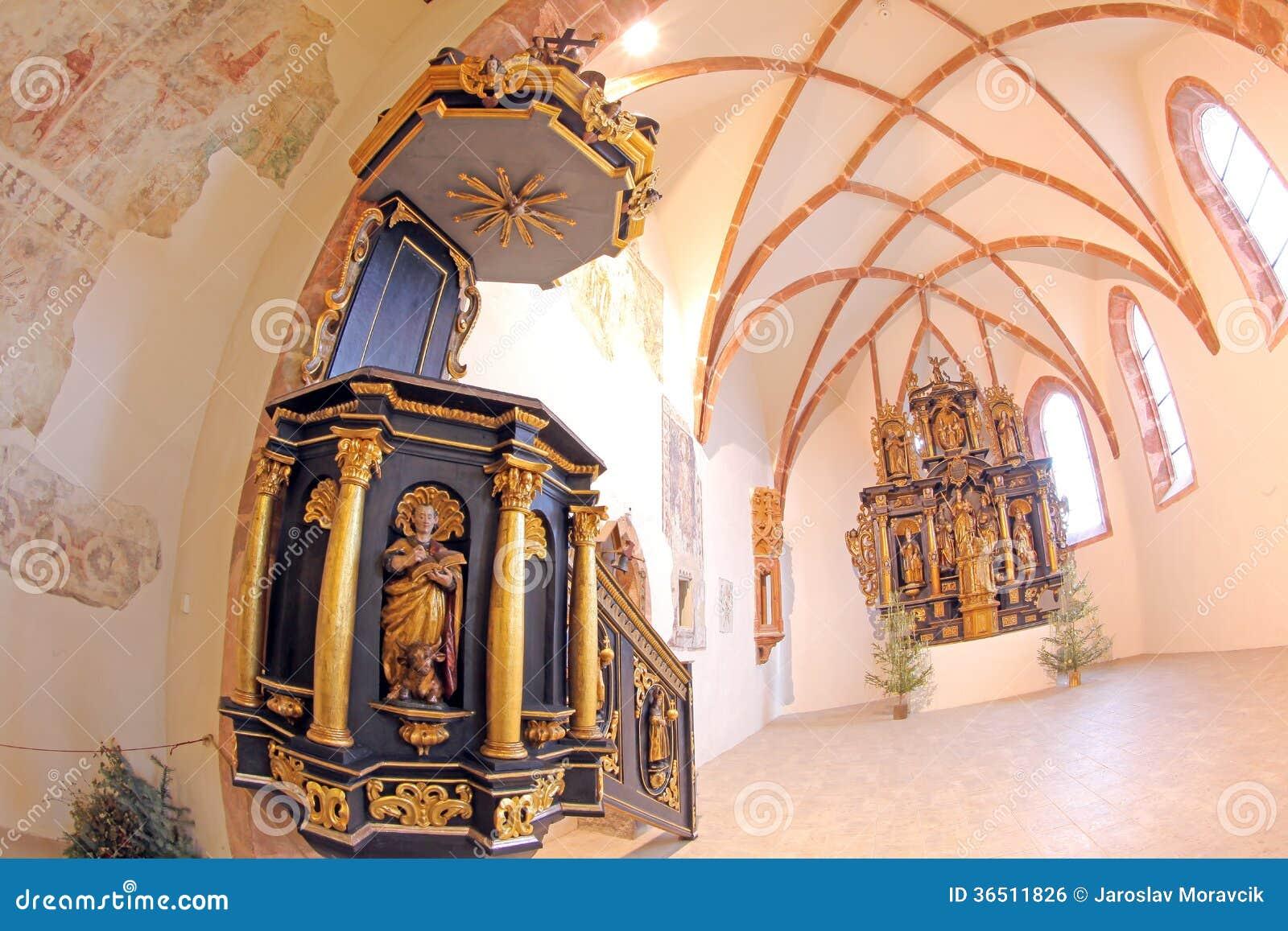 Pribylina - intérieur d église