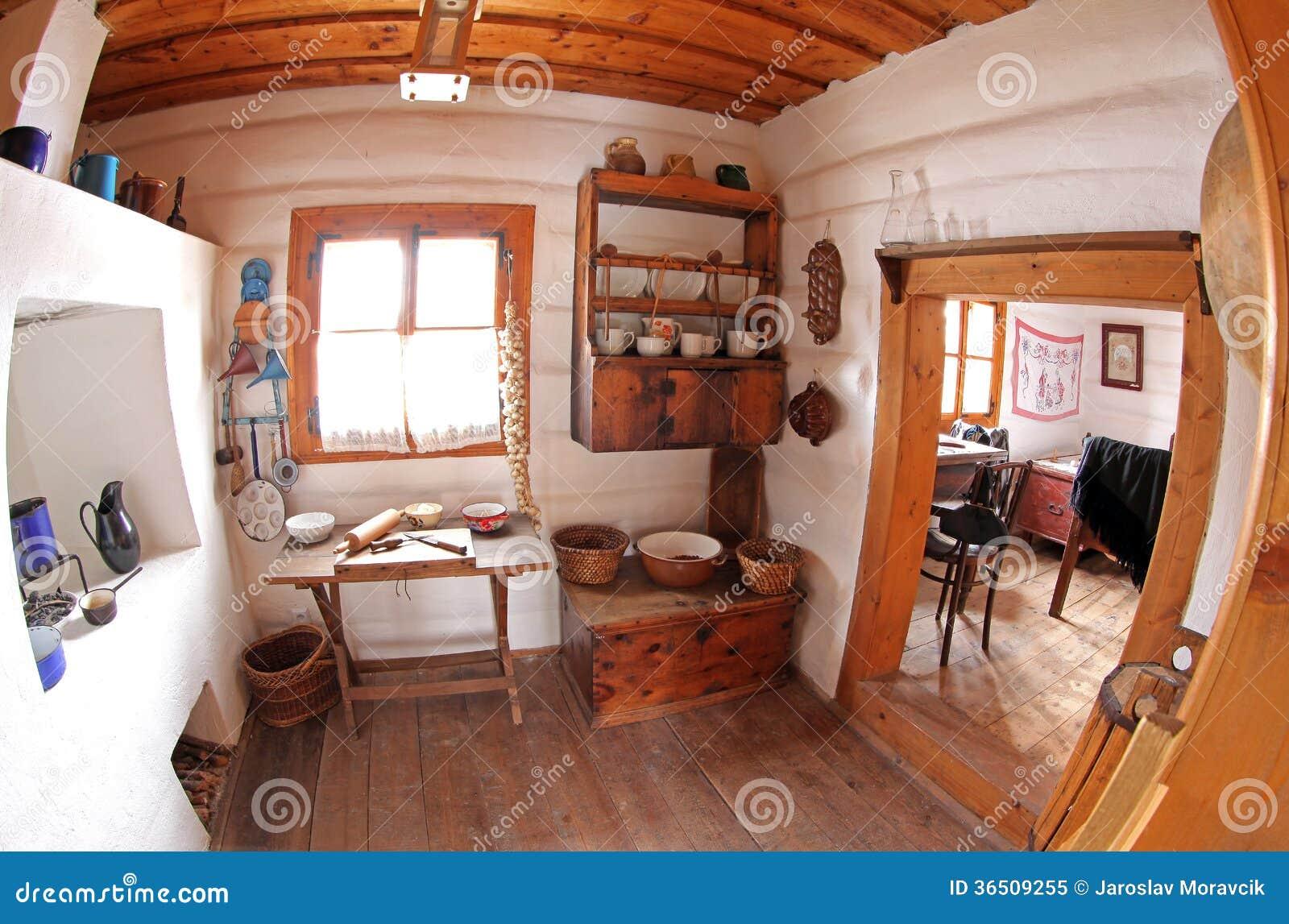 Pribylina - intérieur de maison rurale