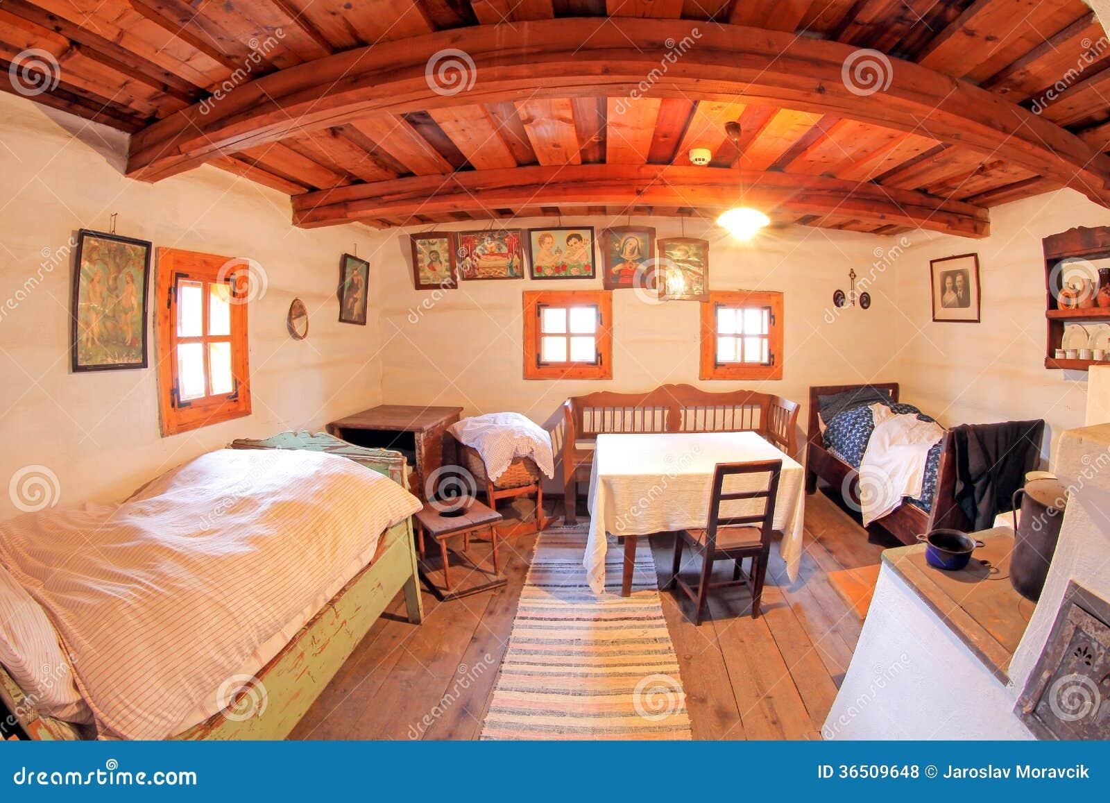 Pribylina - interior de la casa rural