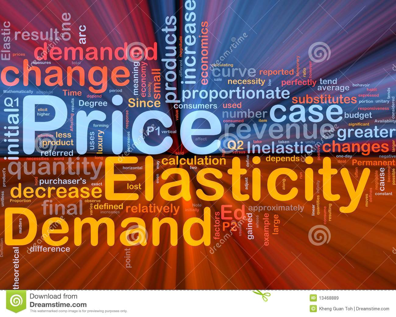 Price Elasticity Background Concept Glowing Royalty Free ...