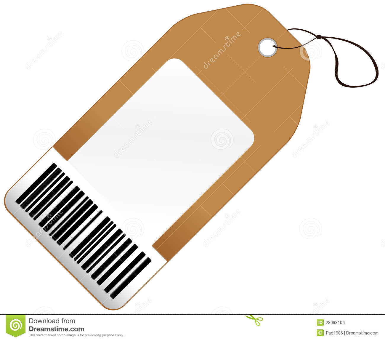 Price tag with barcode stock images image 28093104