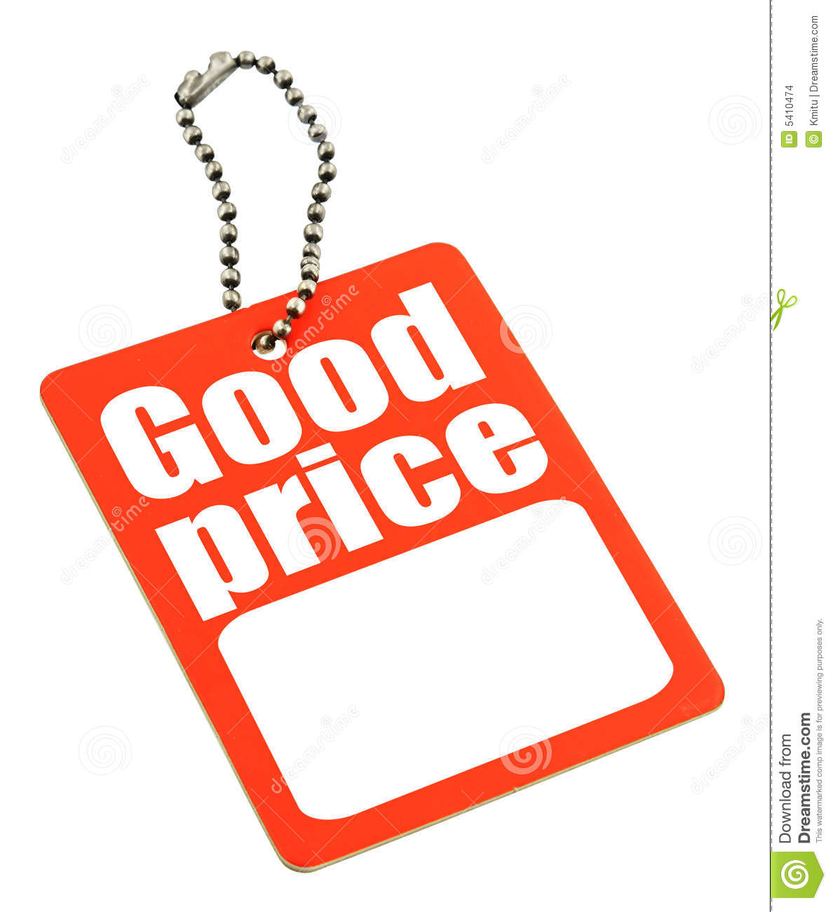 Price Tag With Copy Space Stock Images - Image: 5410474