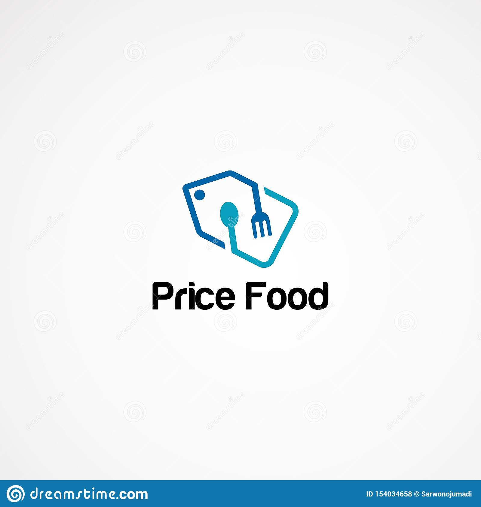 Price tag food logo designs concept, icon, element, and template for company