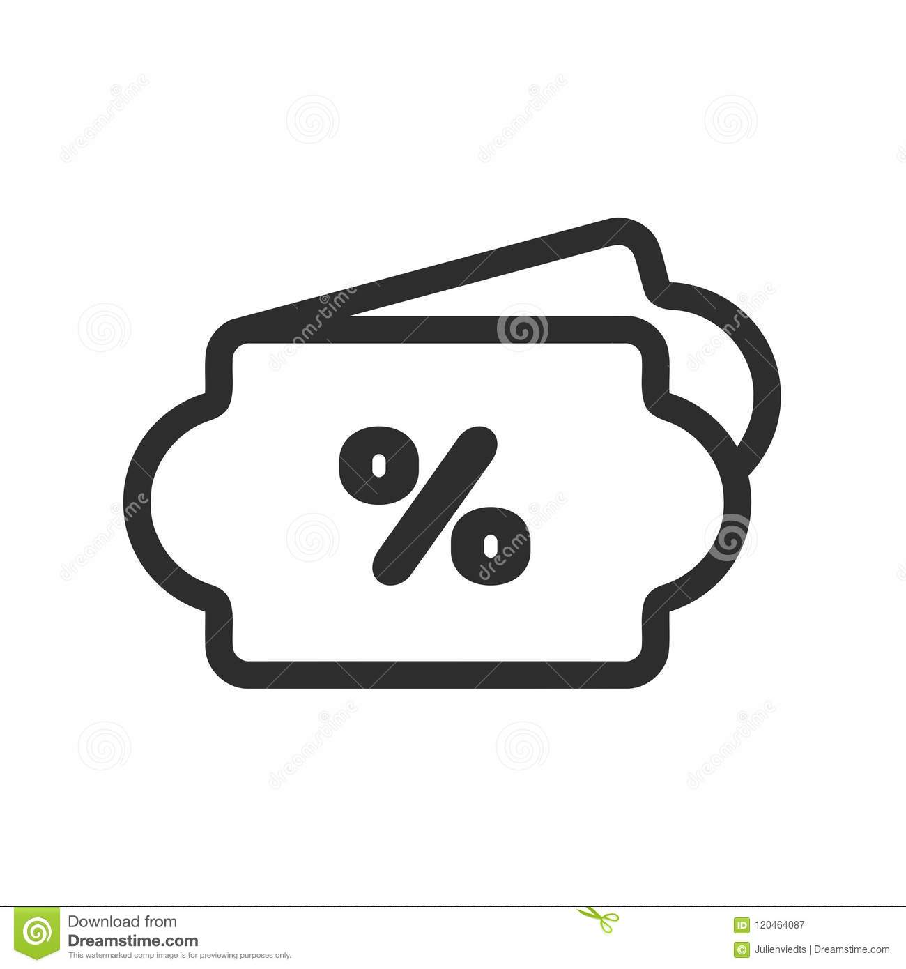 Price Tag Icon Discount Symbol Price Label Sign Stock Vector