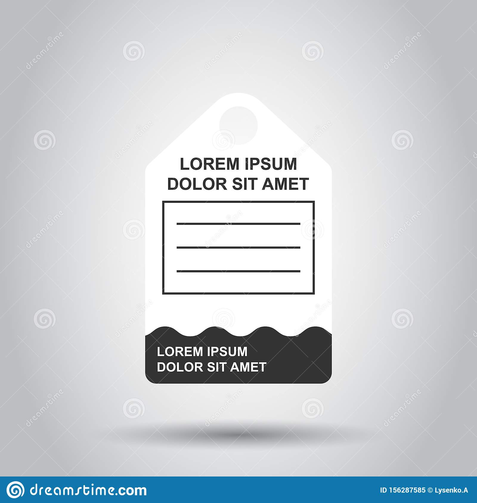 Price tag icon in flat style. Coupon label vector illustration on isolated background. Sale sticker business concept