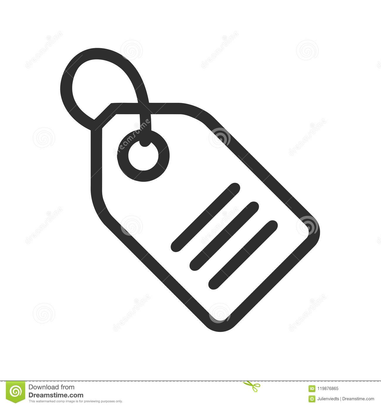 Price Tag Icon Label Symbol Shopping Sign Stock Vector