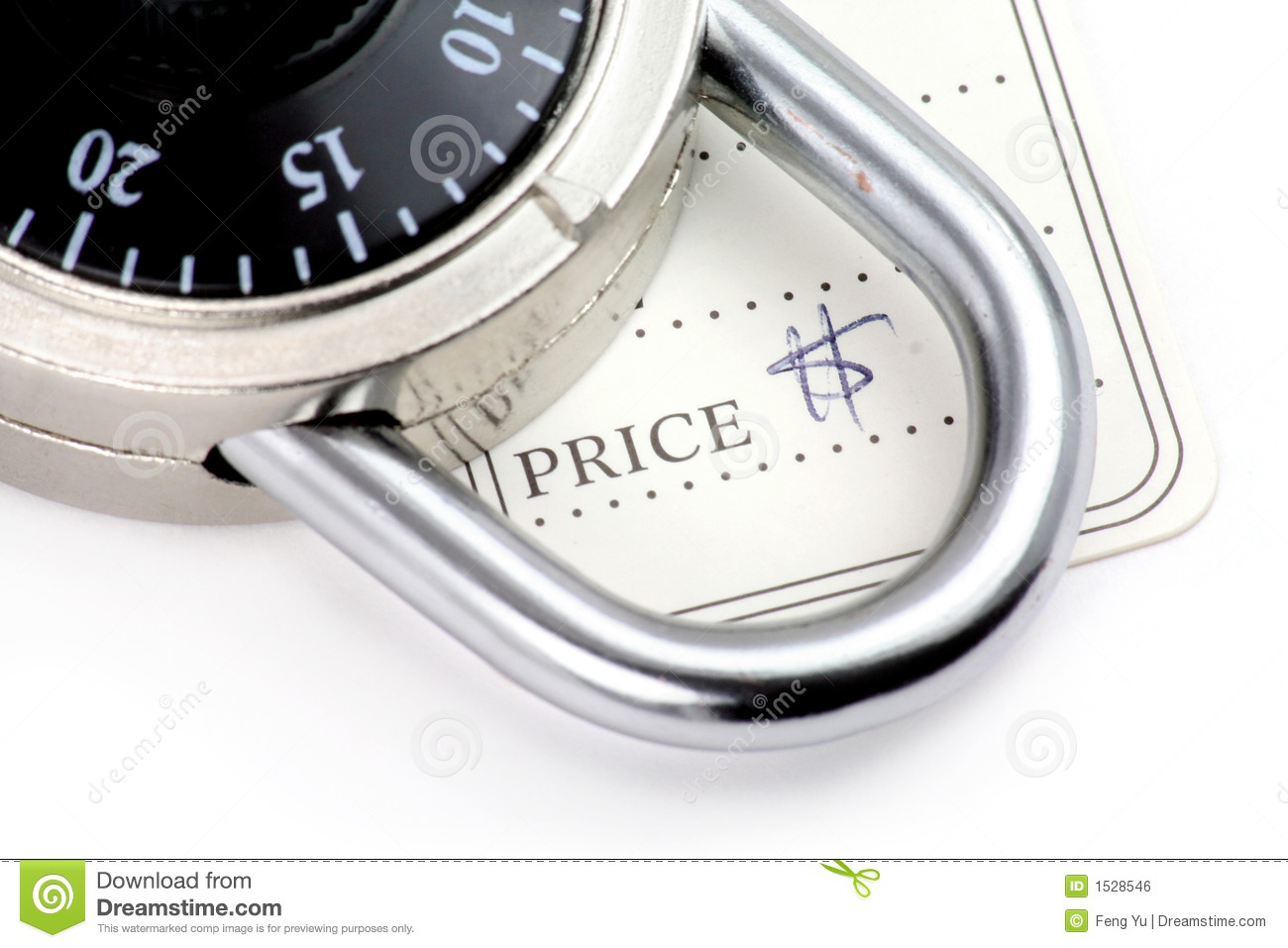 Price tag and lock