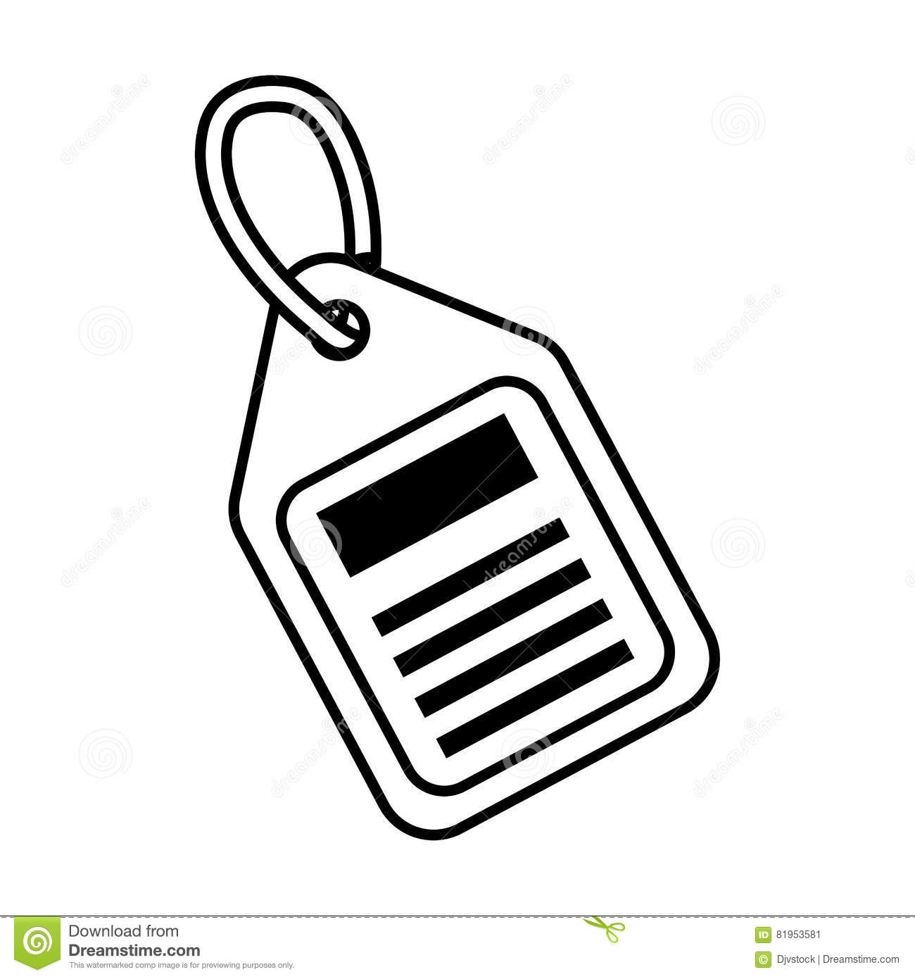 Price Tag Sale Blank Outline Stock Vector - Illustration ...