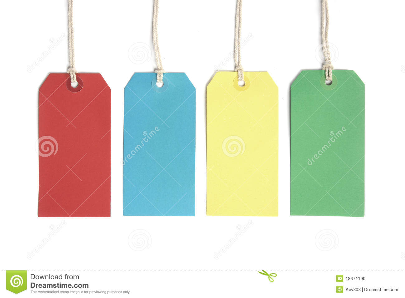 Price tags or luggage labels