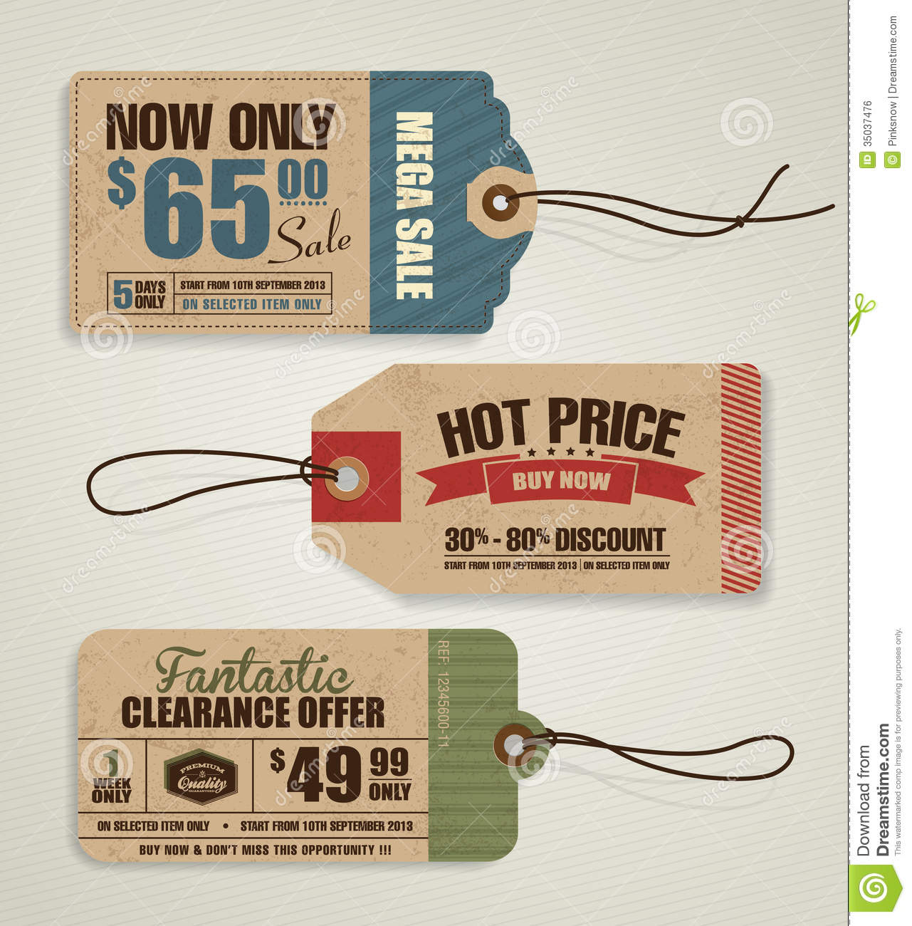 price tags stock vector illustration of limited reduction 35037476