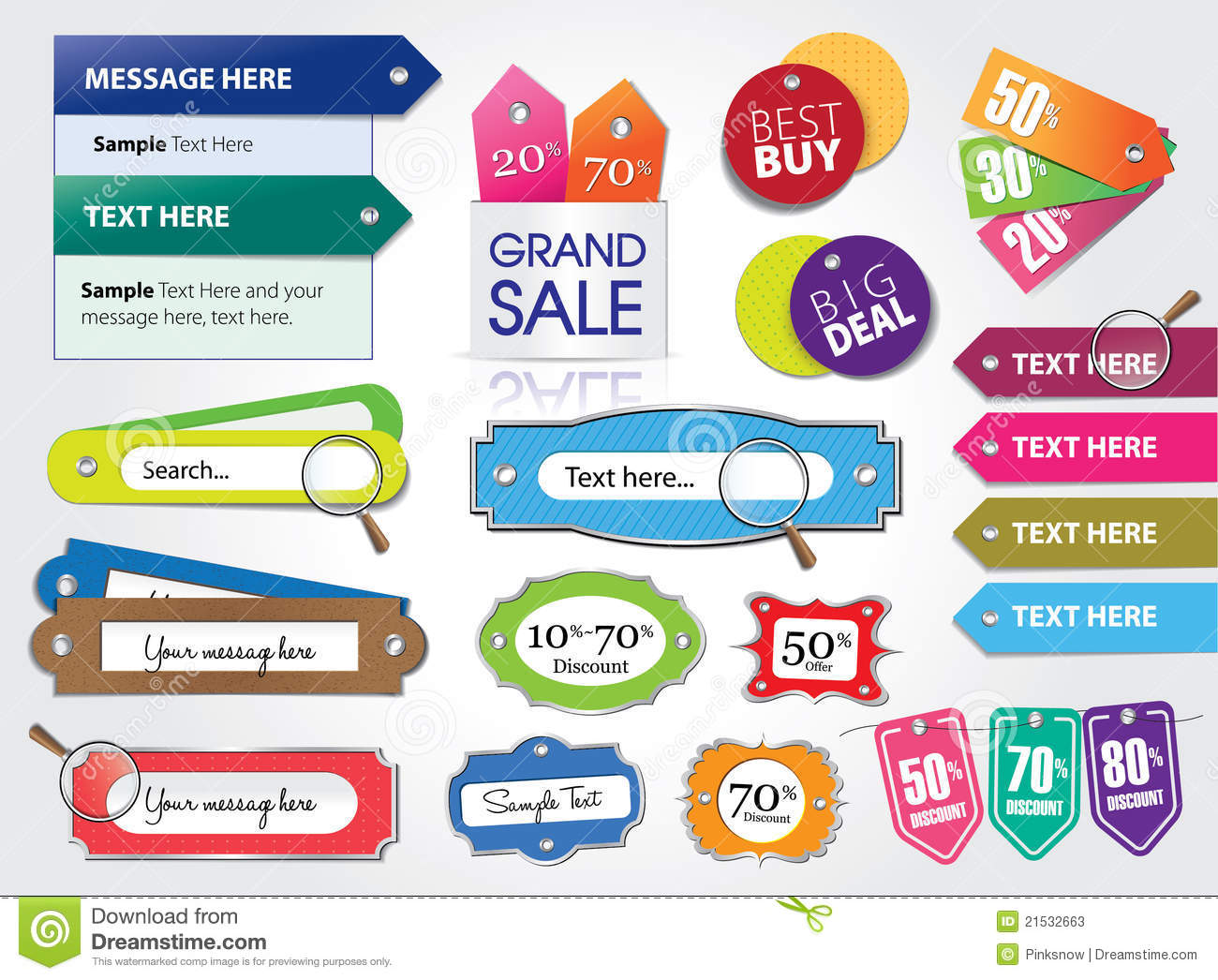 Price Tags And Web Elements Stock Photos - Image: 21532663