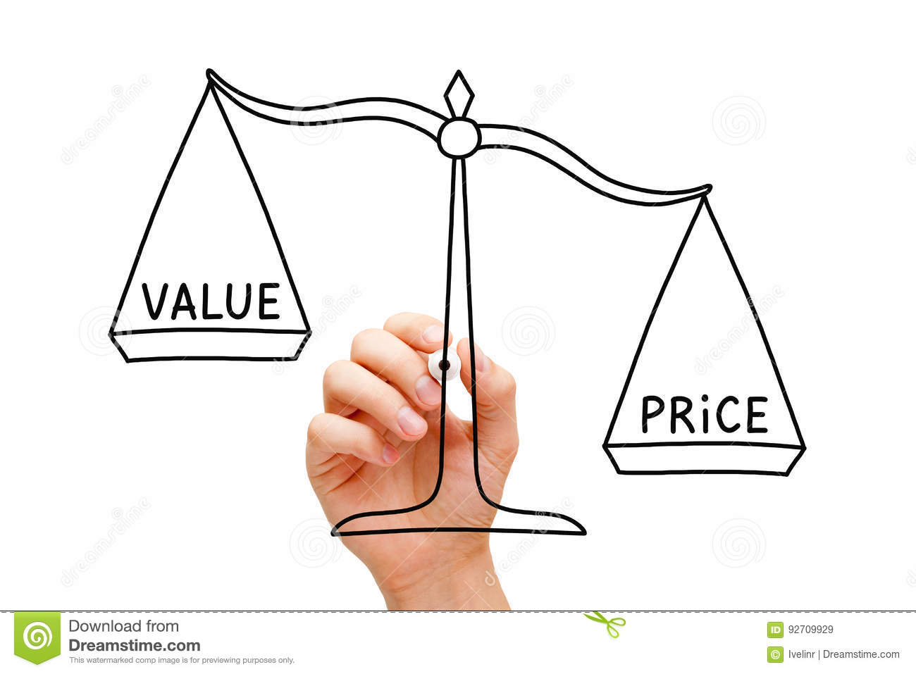 Price Value Scale Concept stock image. Image of management ...