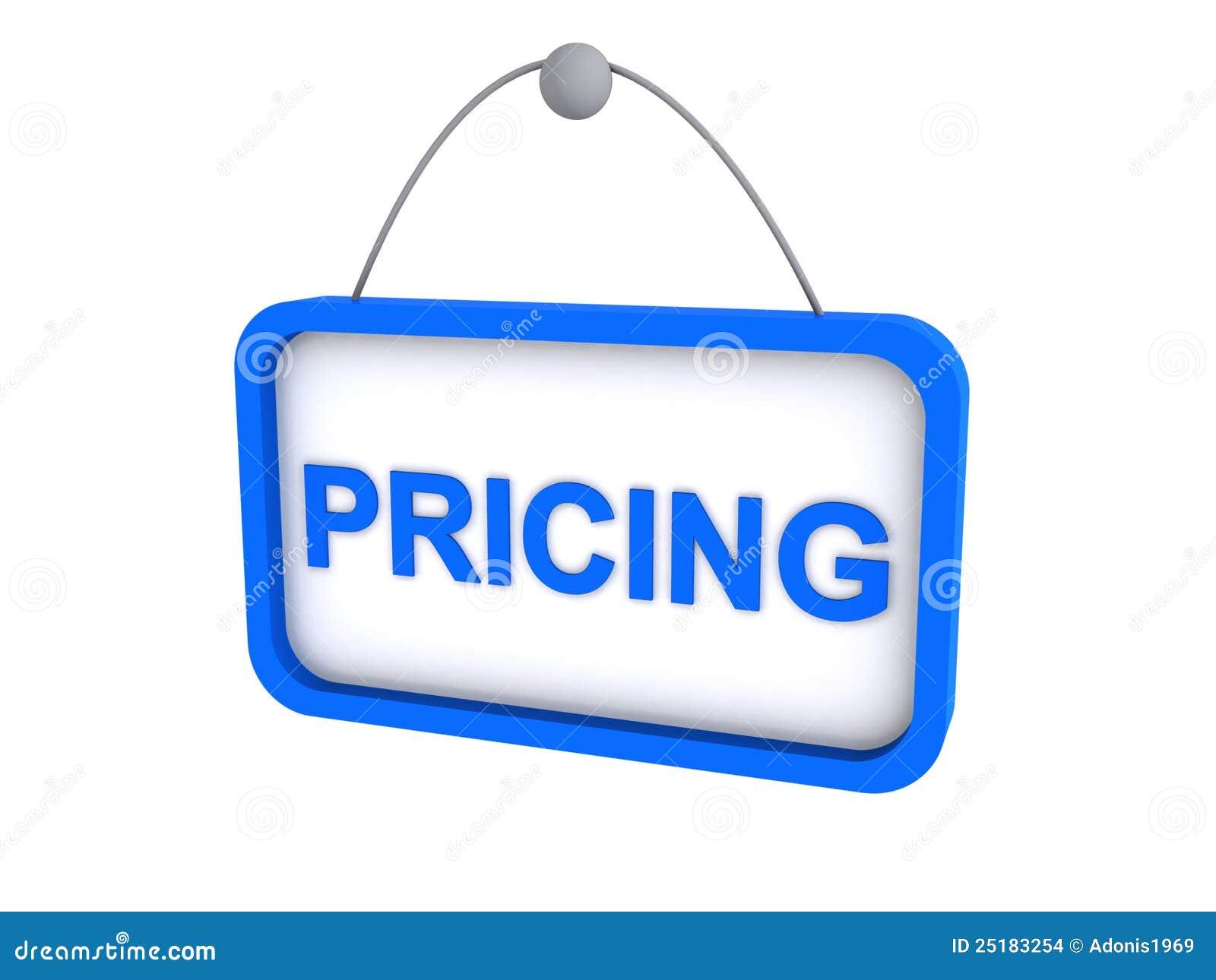 Pricing Sign Stock Illustration Image Of Illustration