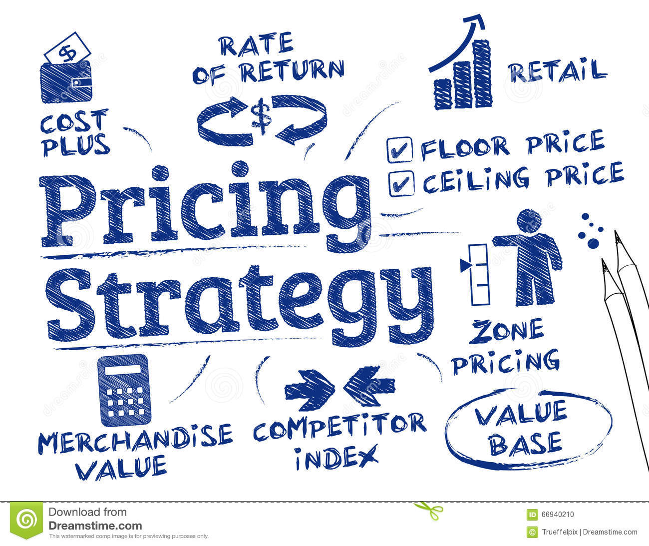 Strategic Pricing: Pricing Strategy Concept Stock Illustration. Illustration