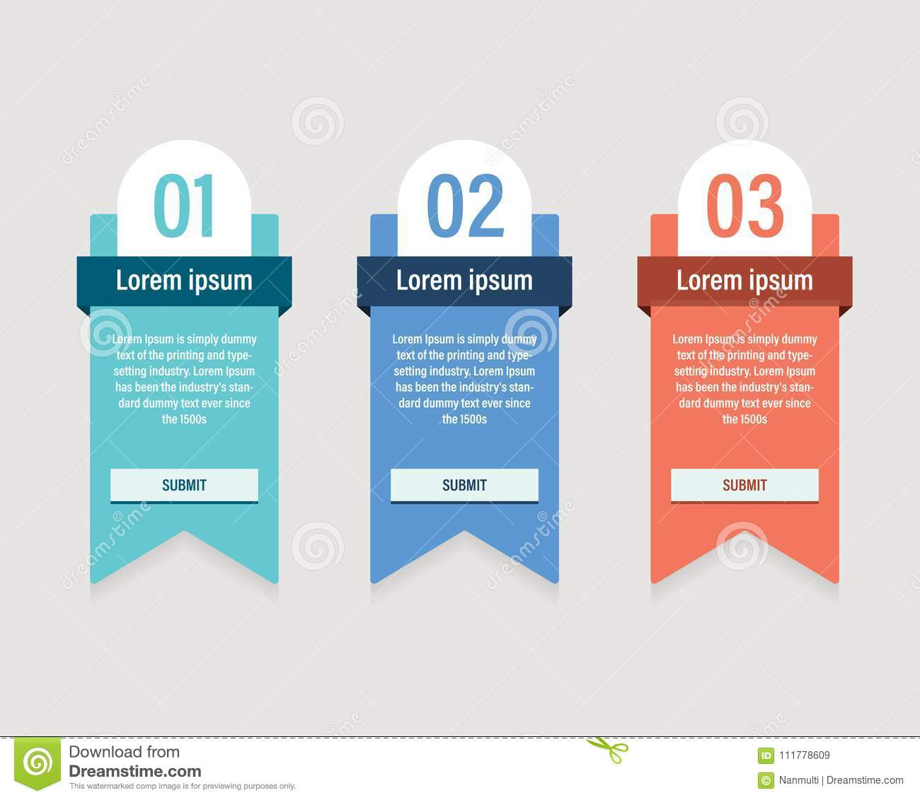 Pricing Table Template Vector Modern Flat Style. Design Element For ...