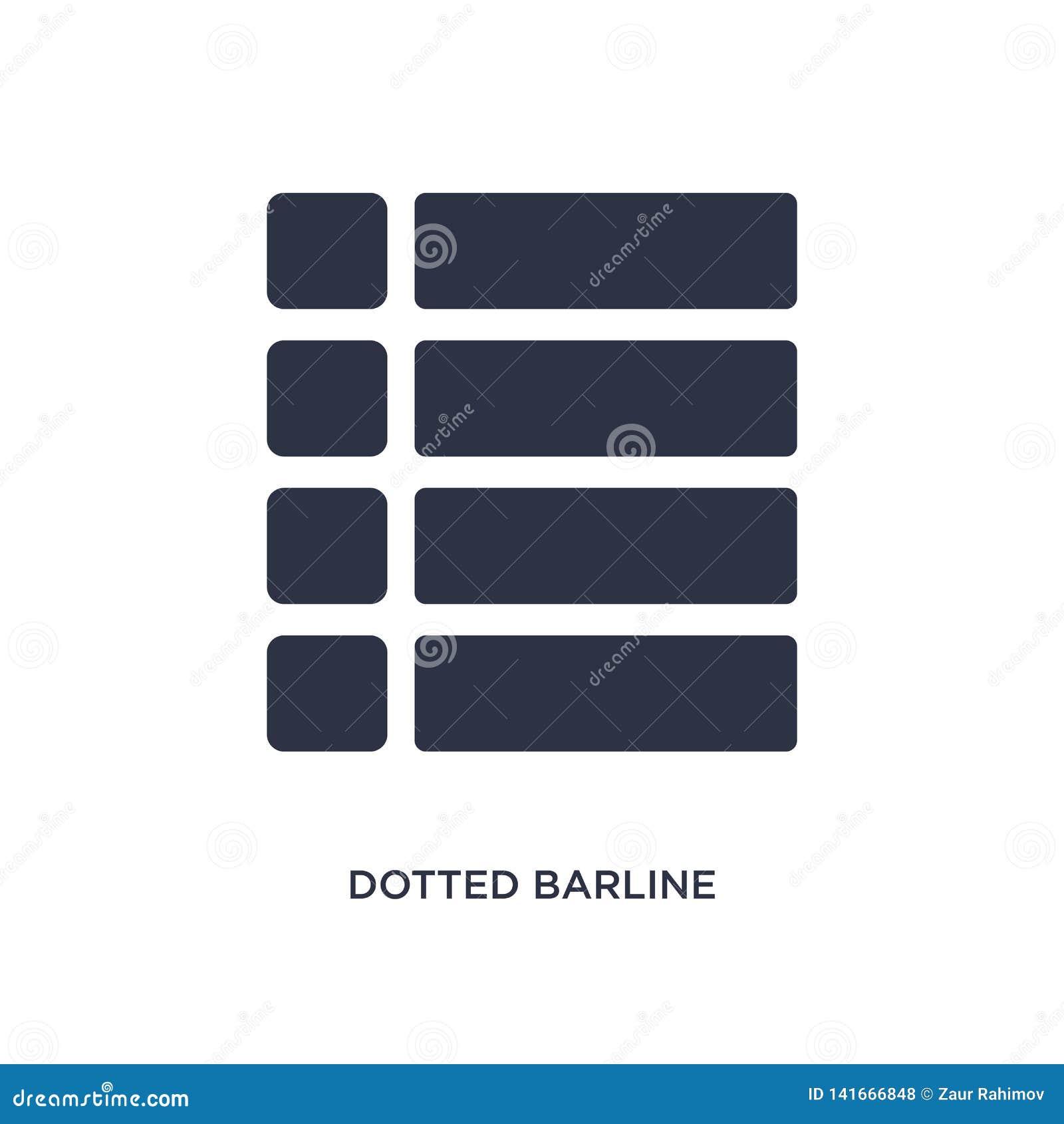 Prickig barlinesymbol på vit bakgrund Enkel beståndsdelillustration från musik och massmediabegrepp