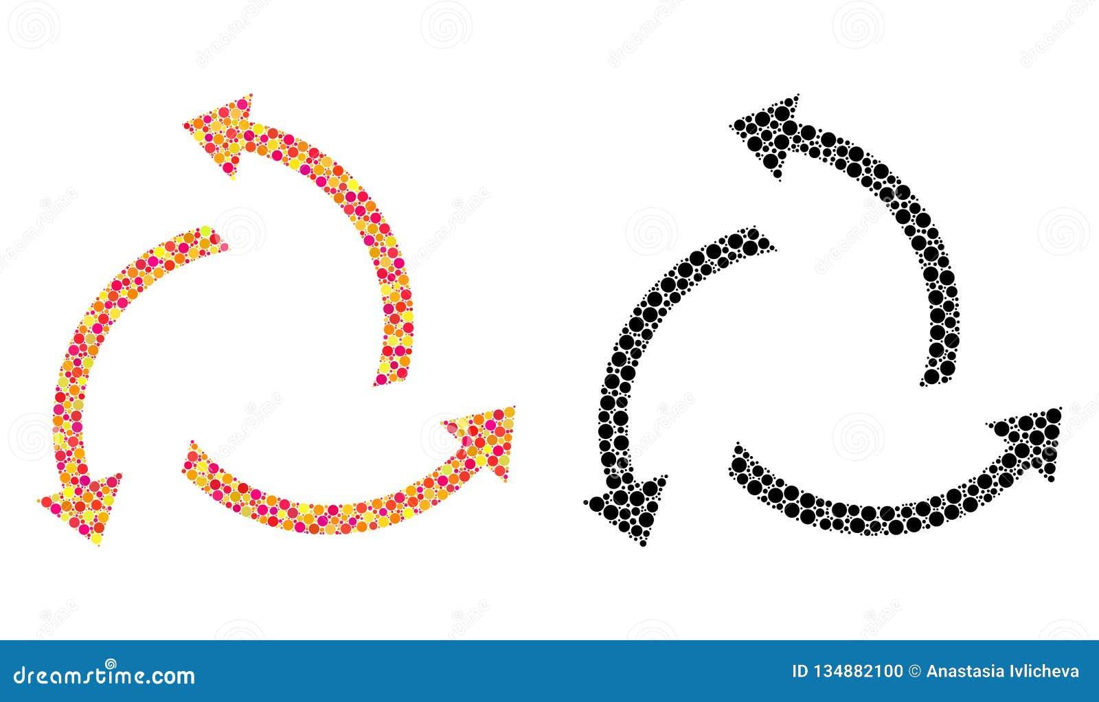 Prickiga centrifugala pilmosaiksymboler