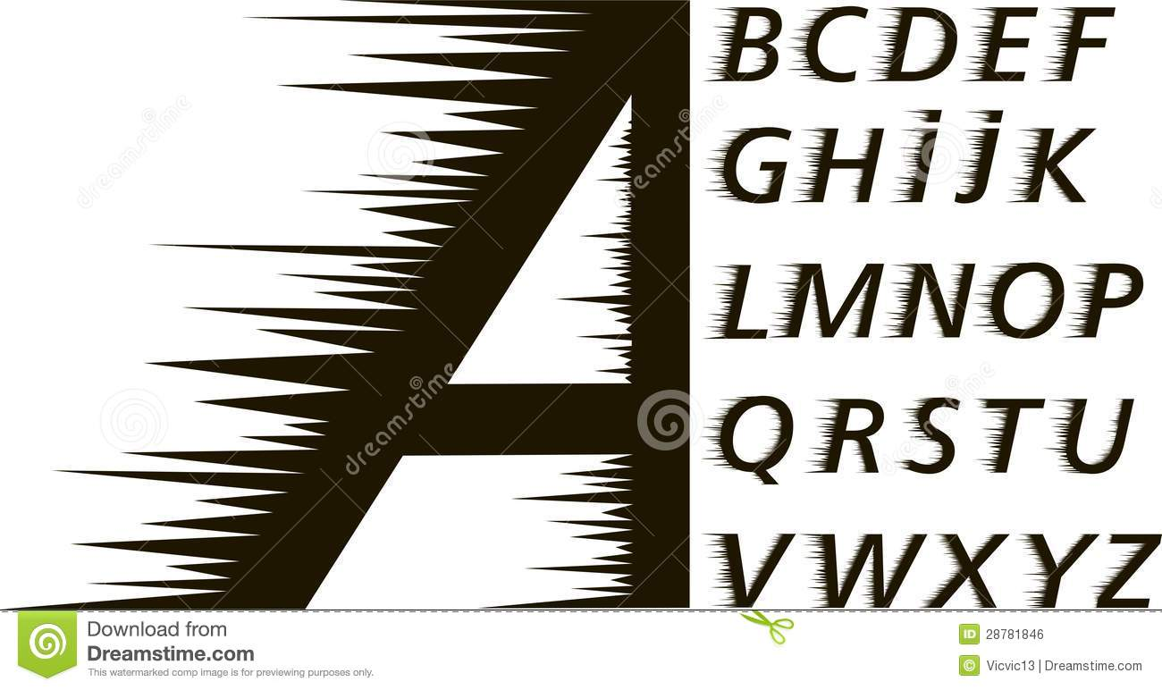 Prickly Fontspeed Stock Illustration Of Alphabet