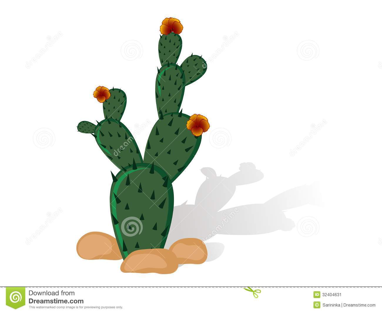 Prickly Pear Stock Vector Illustration Of Vector Graphic