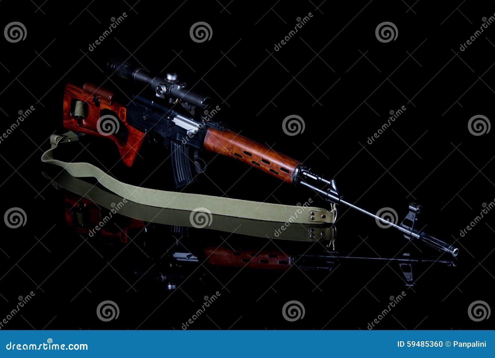 Prickskyttgevär med optisk sikt