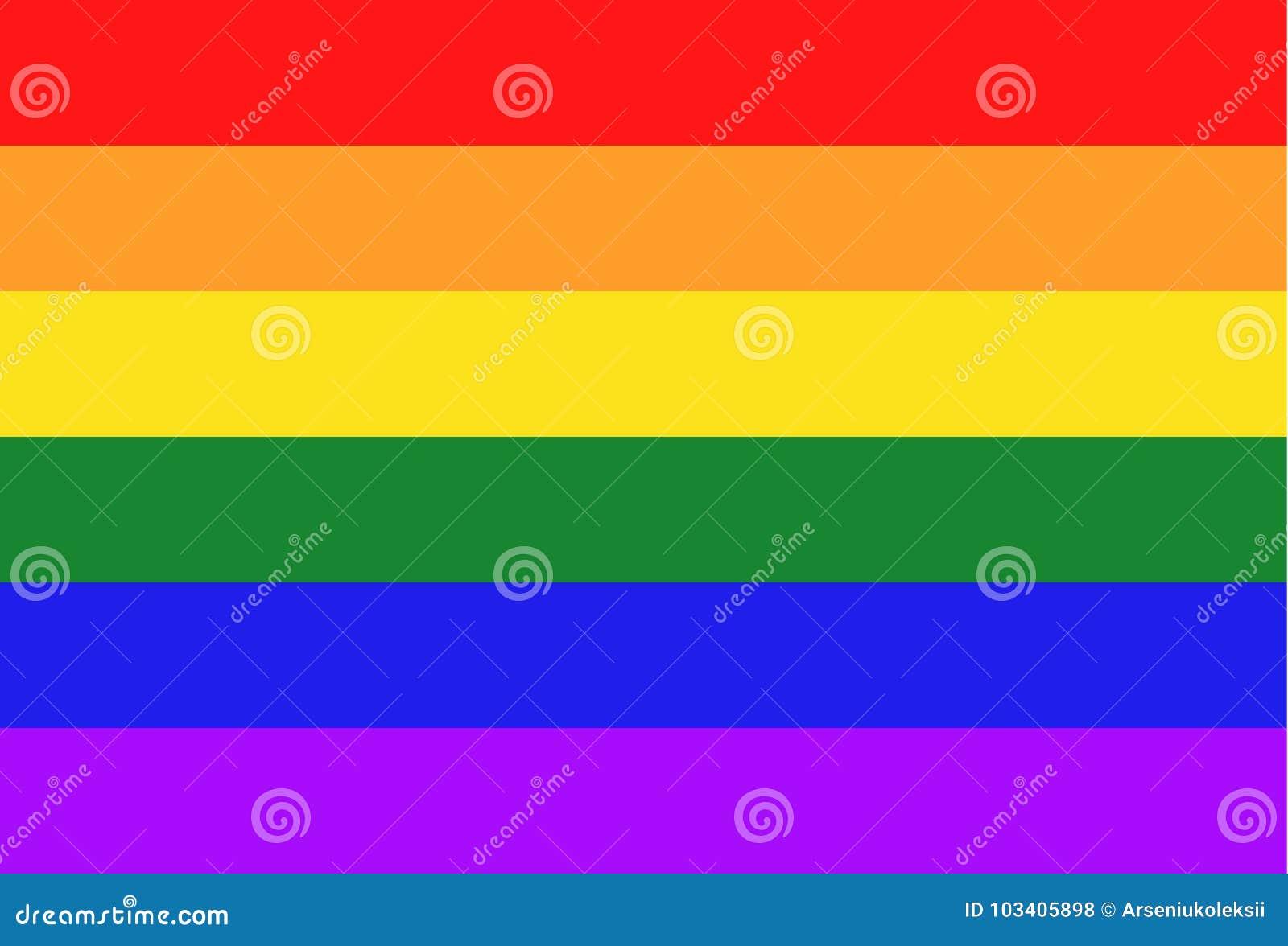 Glbt Flag Background Gay Symbol Stock Vector Illustration Of Flag