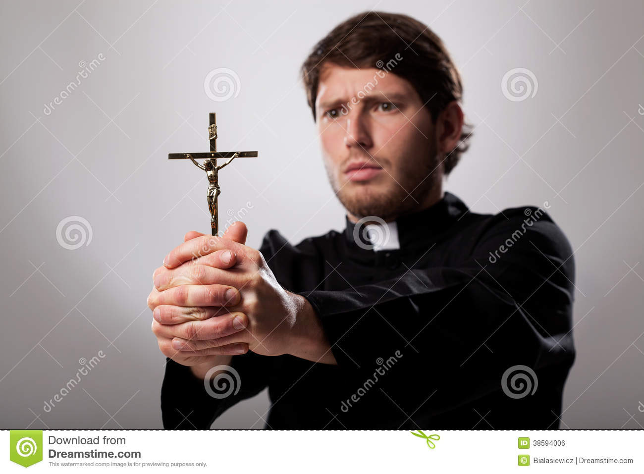Priest With Cro... Free Christian Clip Art Thank You