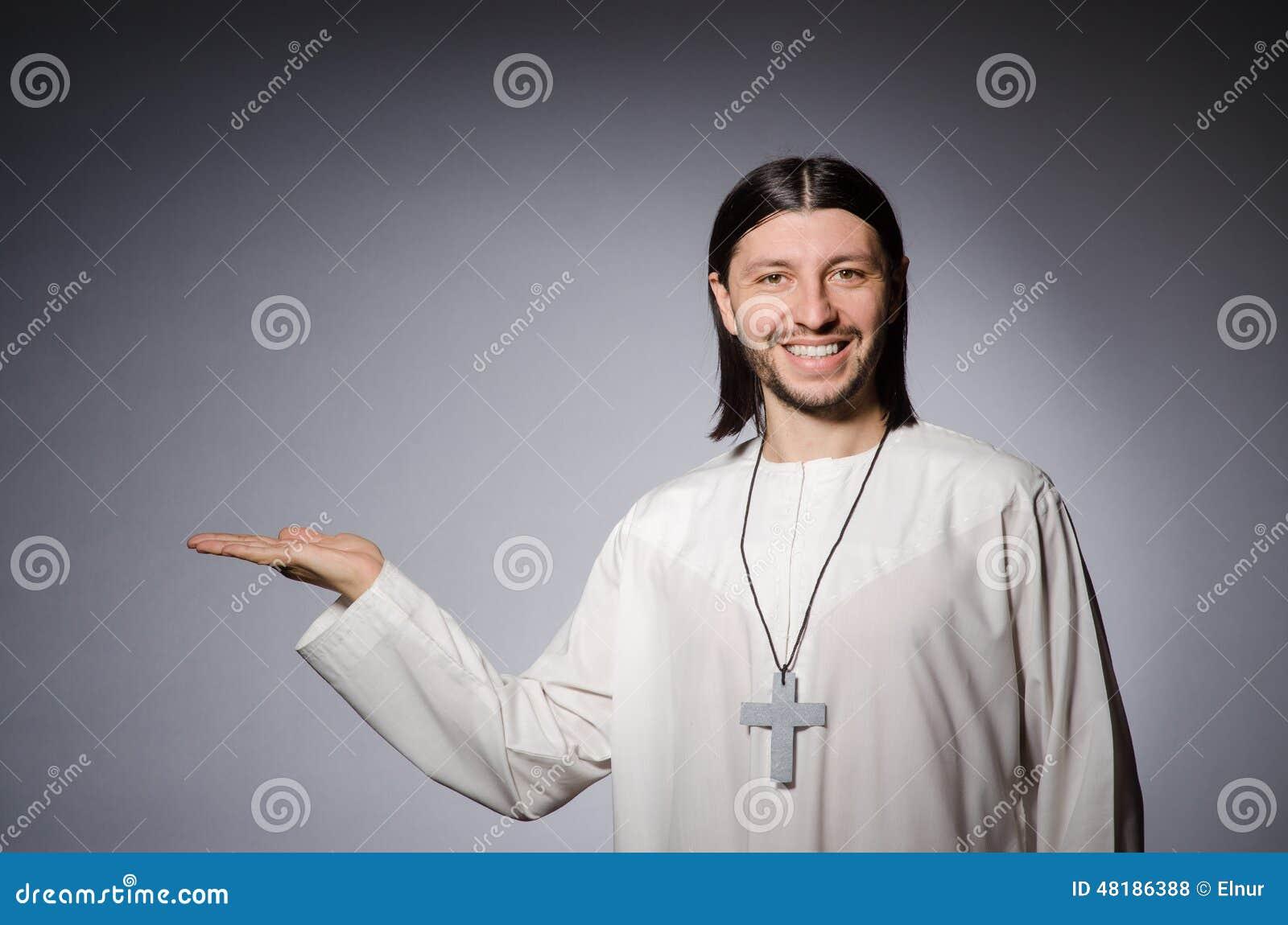 Priest man in religious