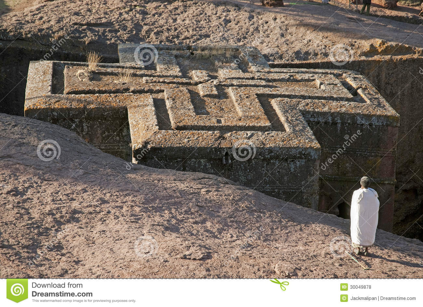 Oude rots gehouwen kerken van lalibela Ethiopië