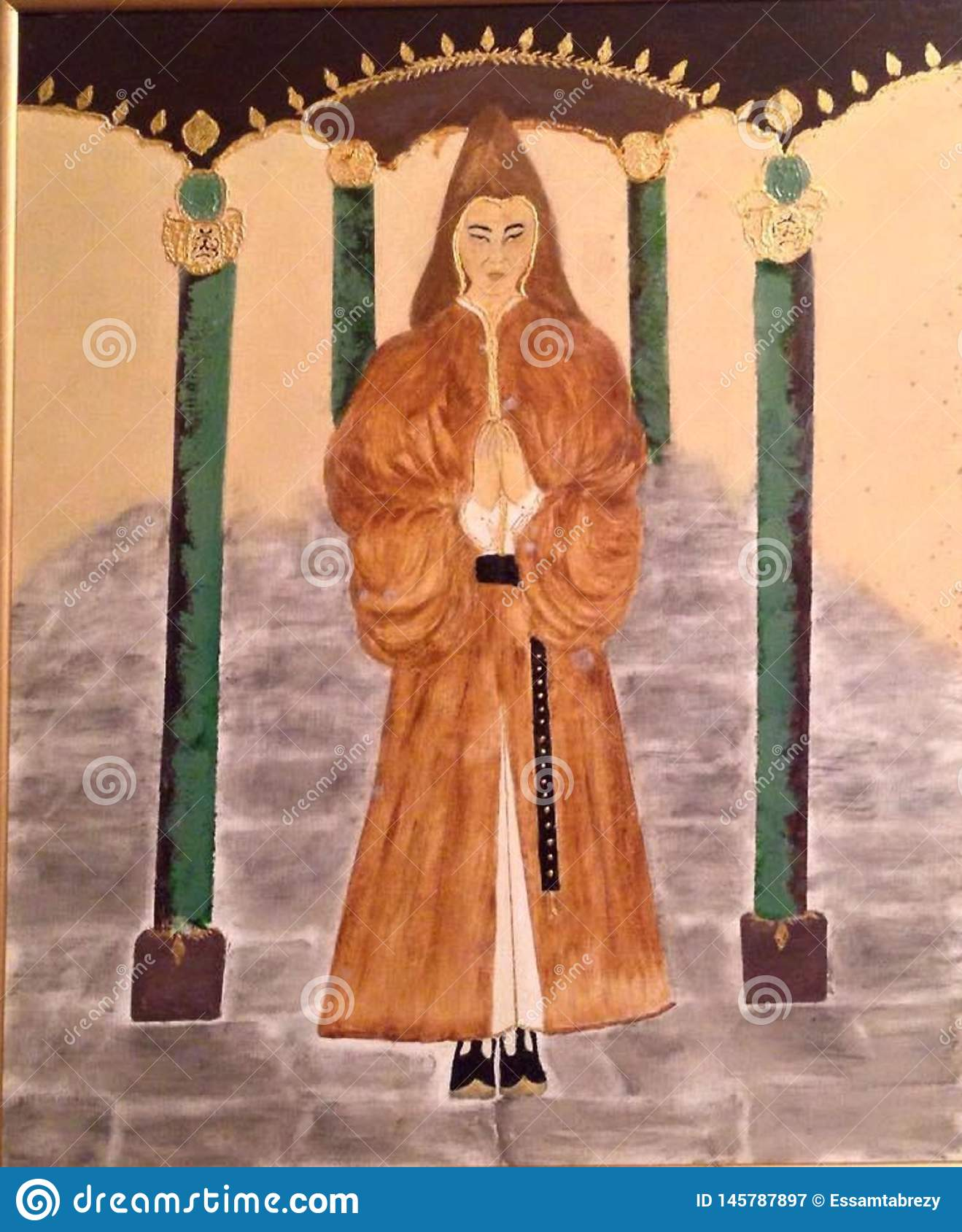Priester, Heilige, Tempel Heilige mens, vrome Mens Met een kap,