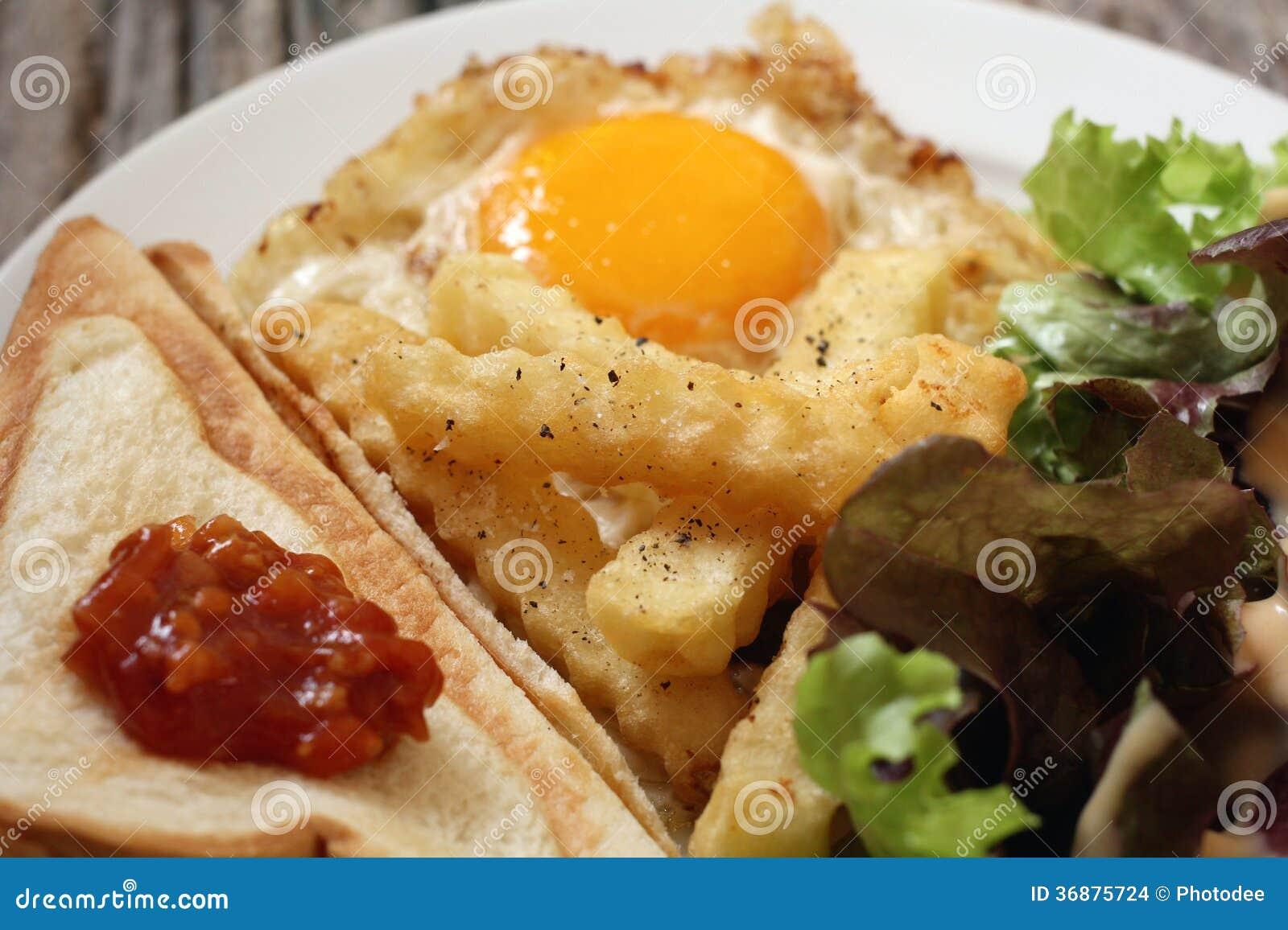 Download Prima colazione fotografia stock. Immagine di sano, uovo - 36875724