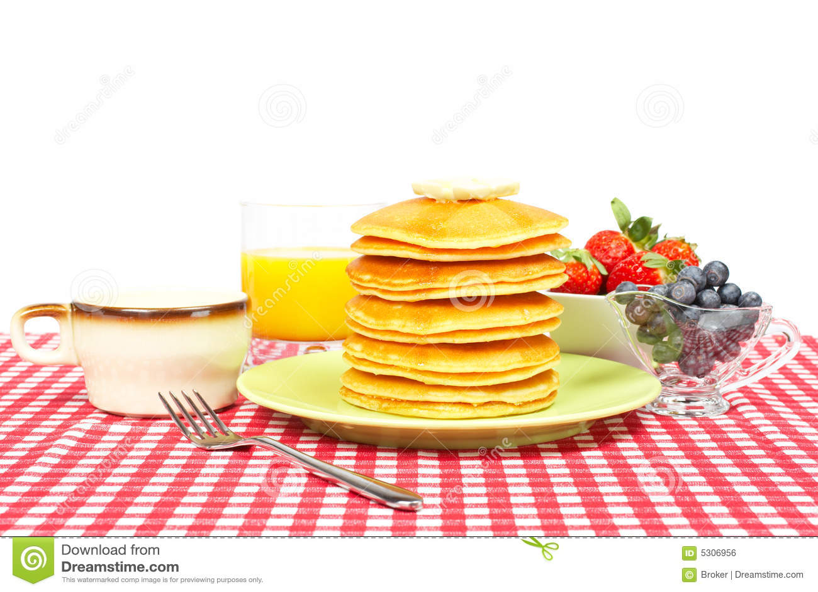 Download Prima colazione fotografia stock. Immagine di sano, dessert - 5306956