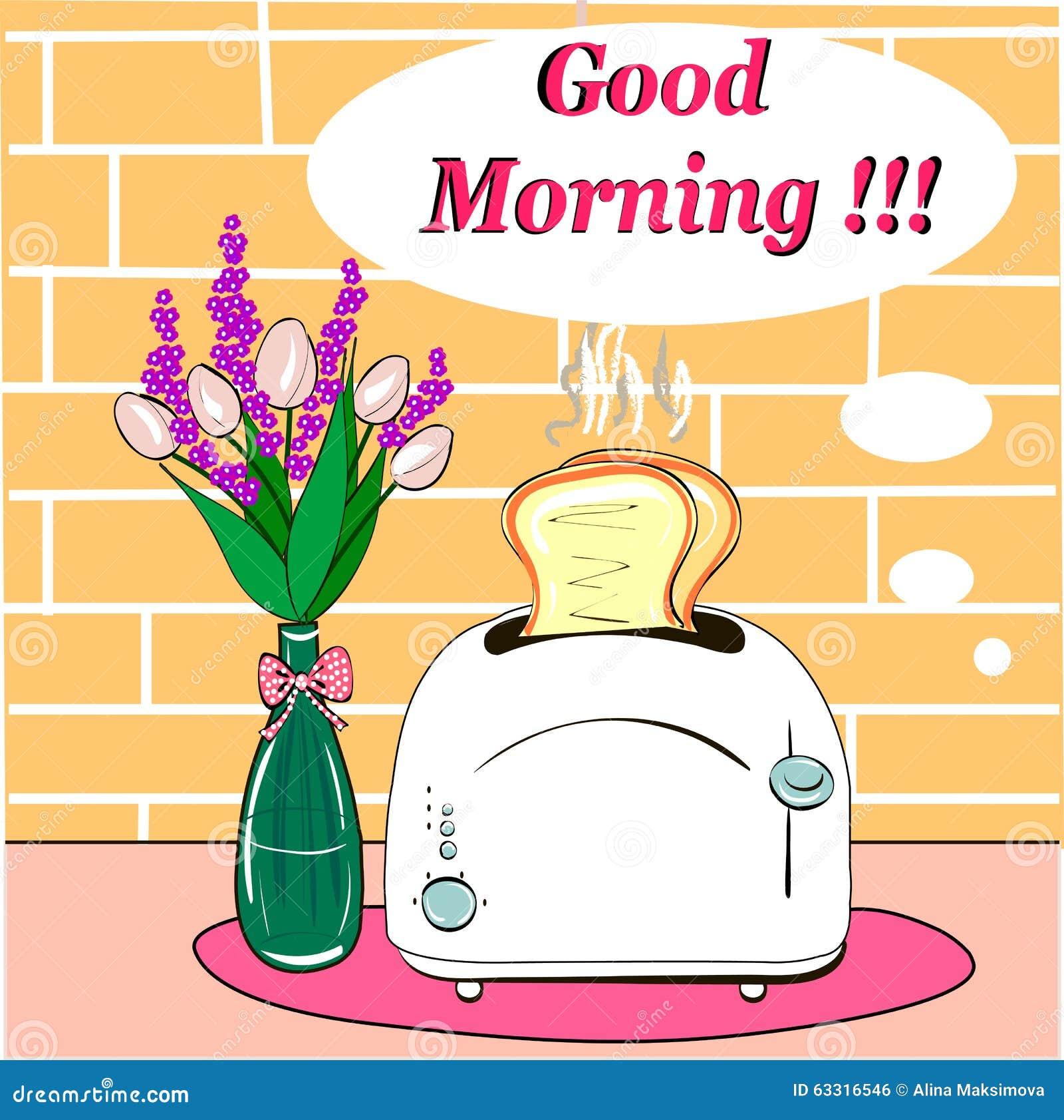 Prima colazione con il buongiorno caldo dei pani tostati for Buongiorno con colazione
