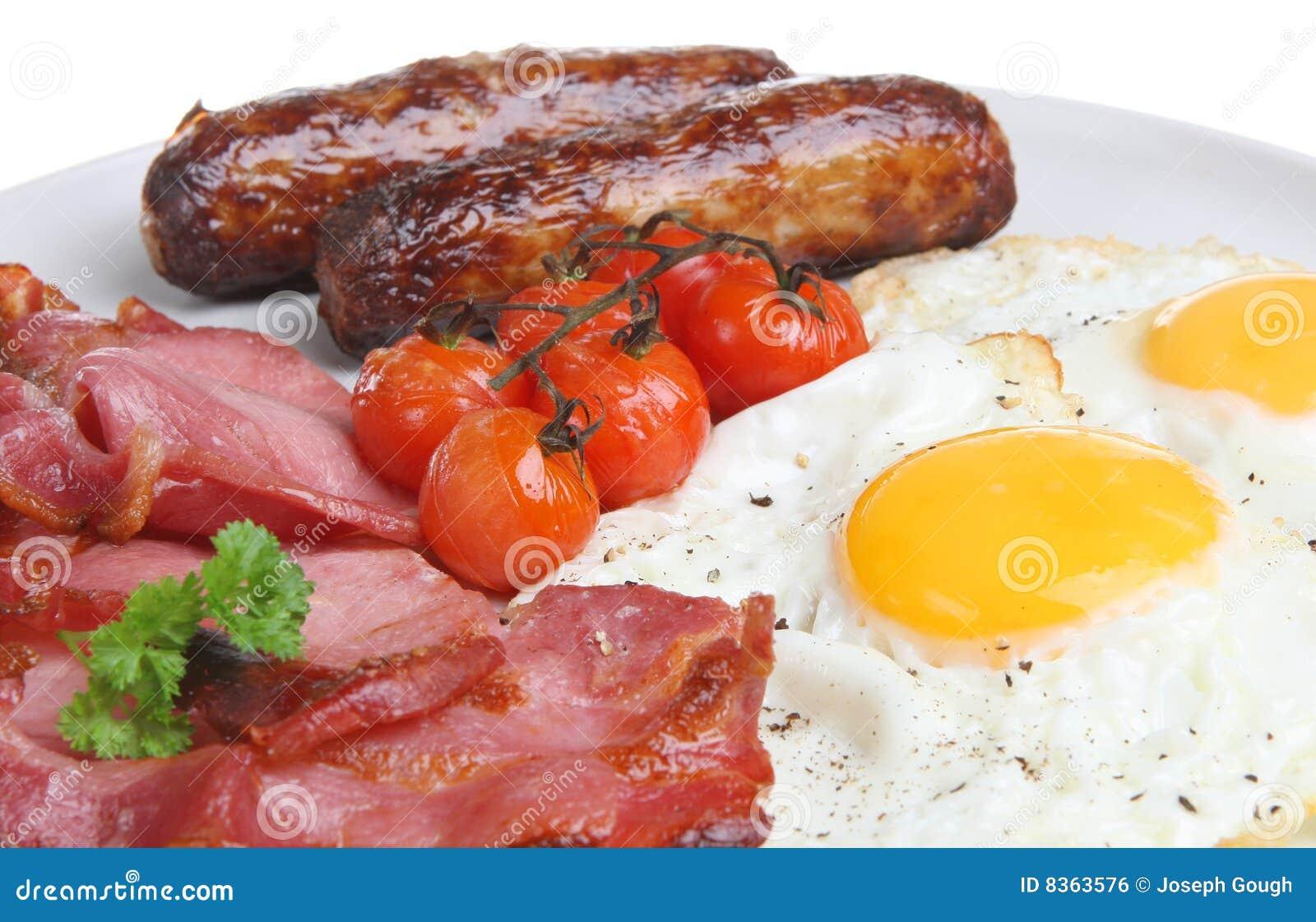 Prima colazione cucinata inglese