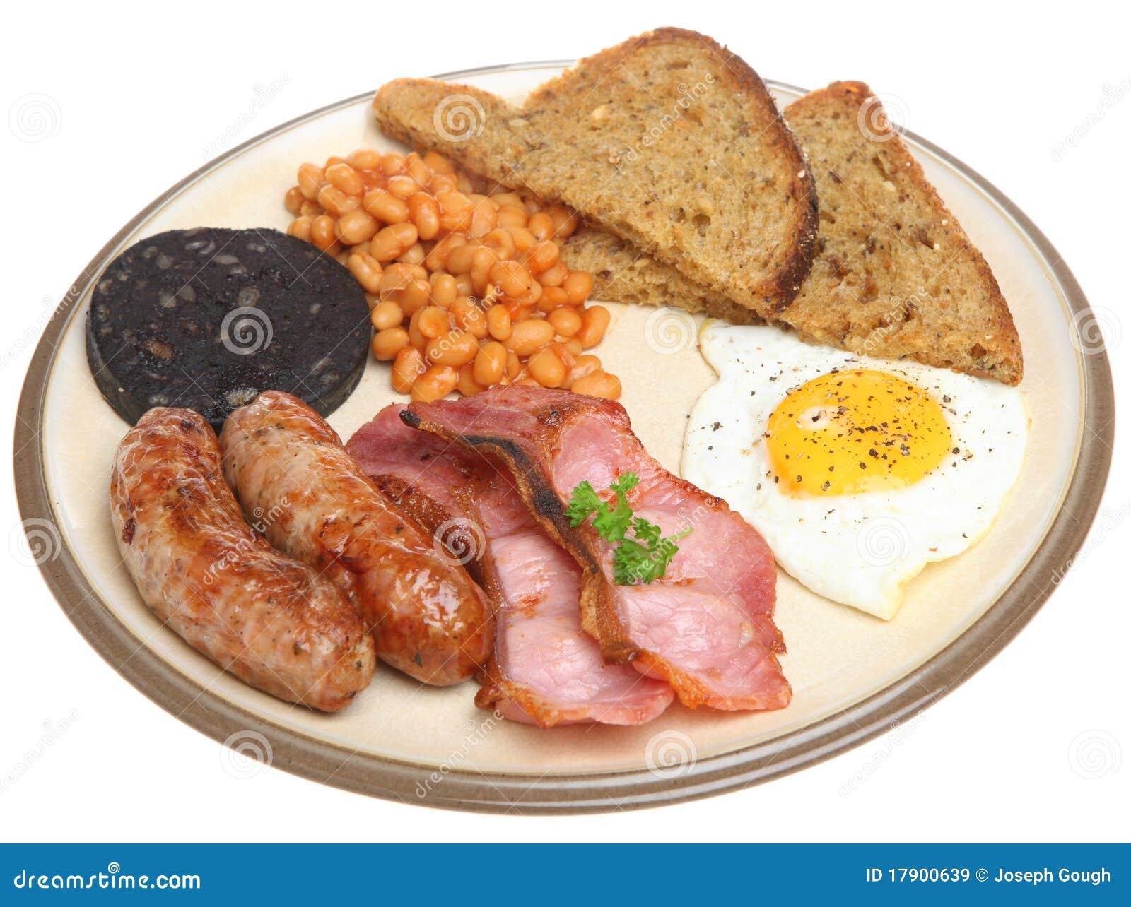 Prima Colazione Cucinata Inglese Tradizionale Immagine Stock ...