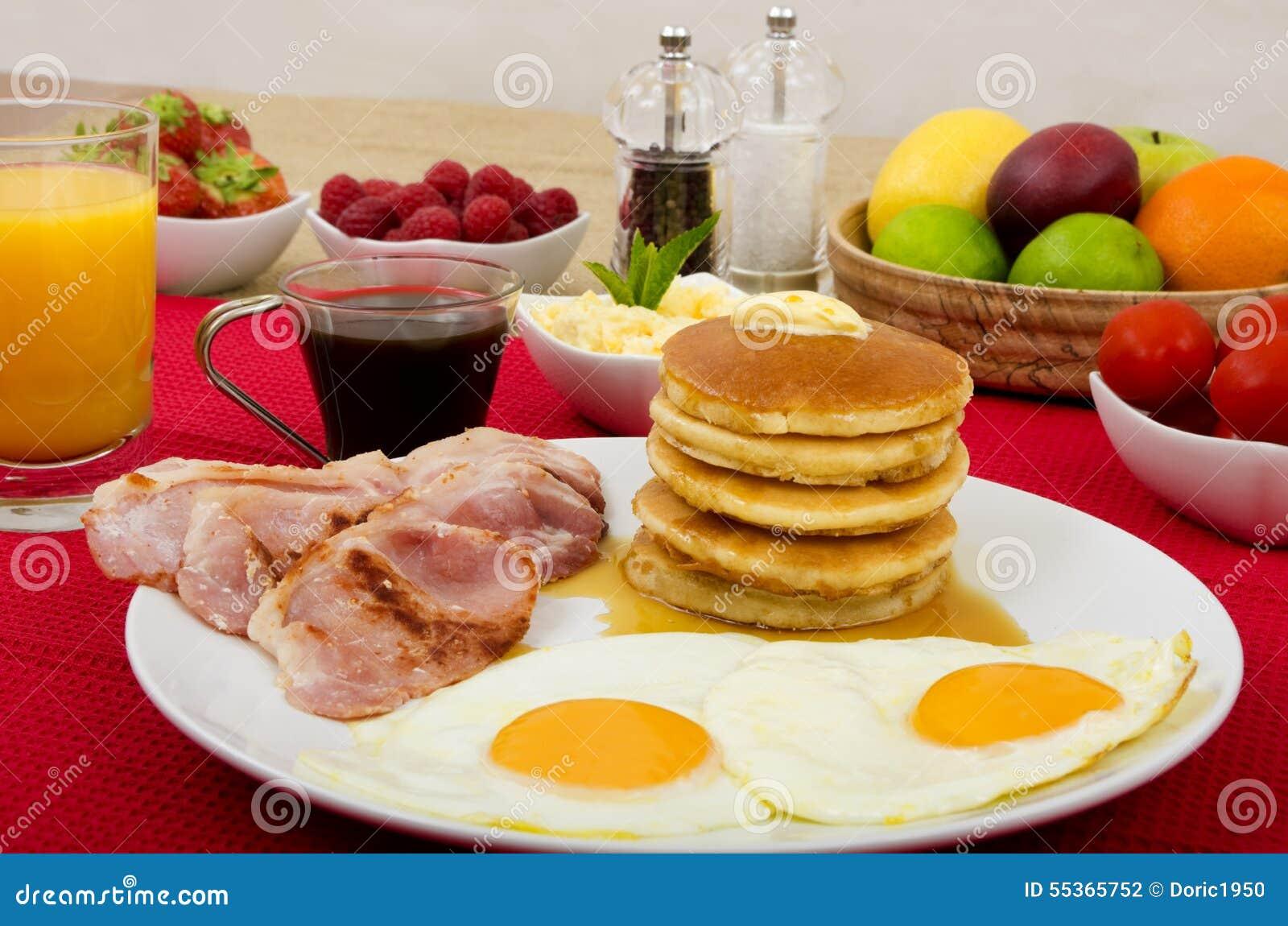 Prima colazione dei pancake