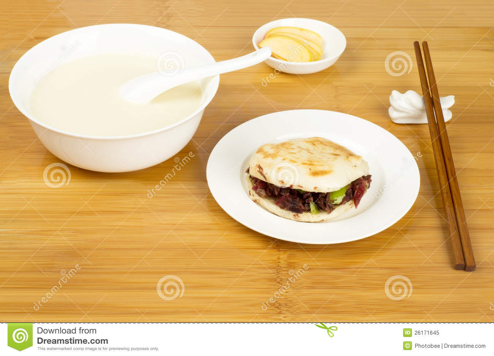 Prima colazione di stile cinese immagine stock immagine for Colazione cinese