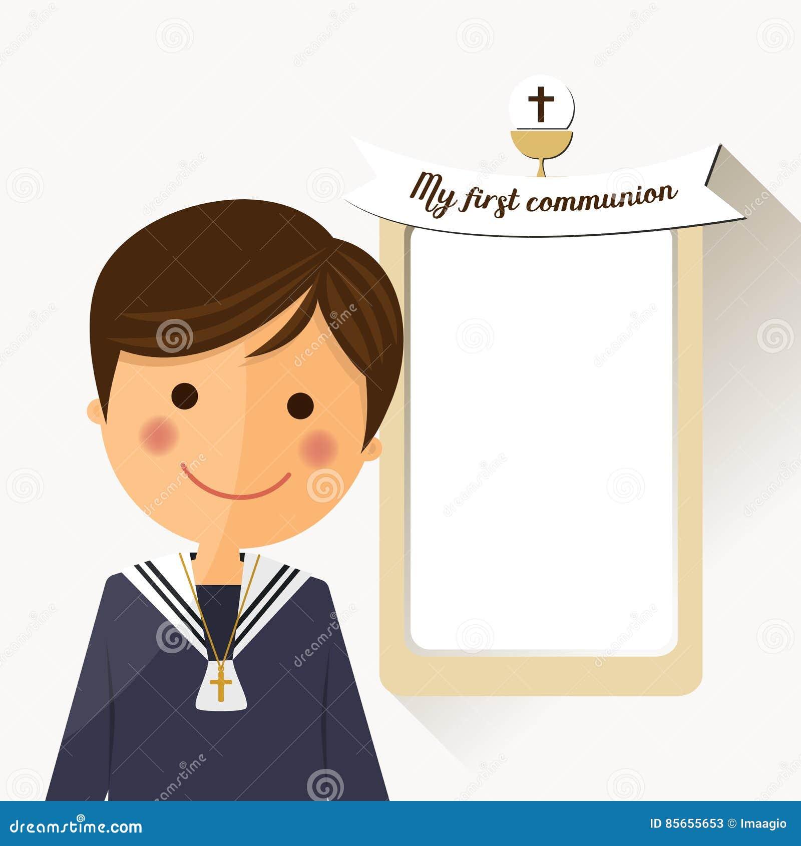 Prima Priorità Alta Del Bambino Di Comunione Con Il Messaggio