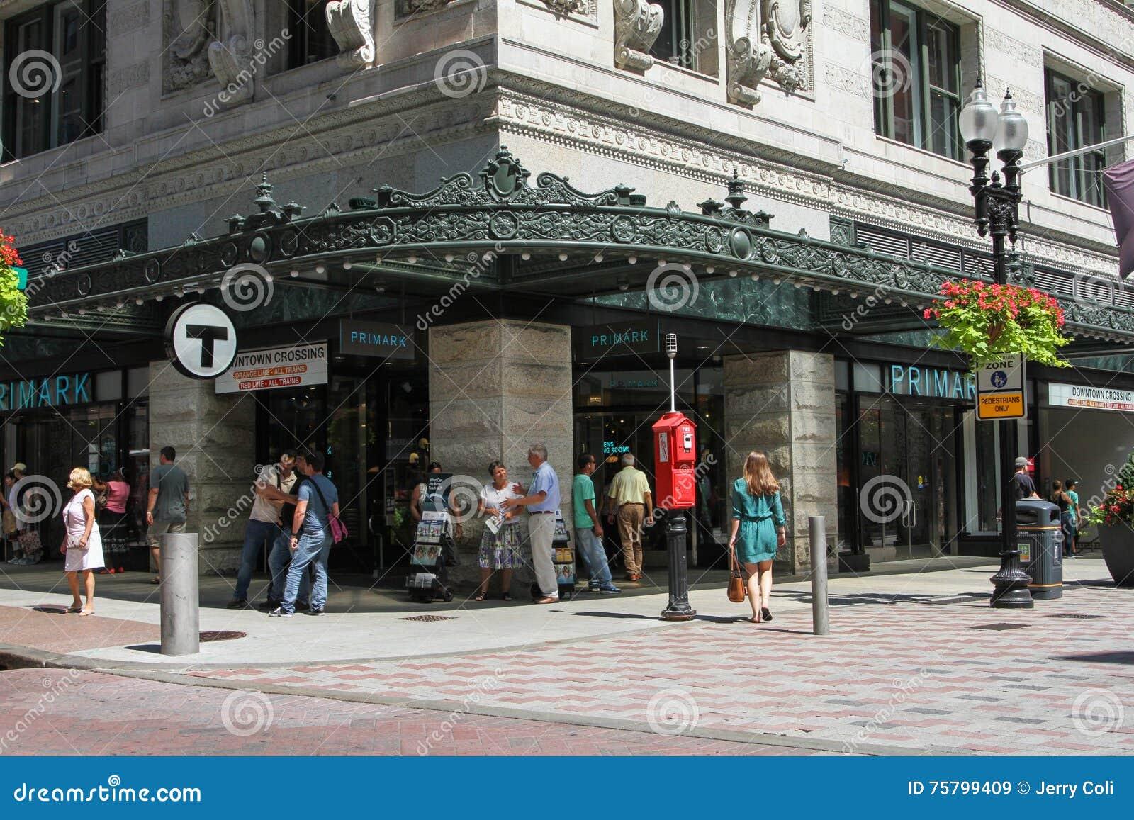 primark store downtown crossing boston ma editorial stock image image 75799409. Black Bedroom Furniture Sets. Home Design Ideas