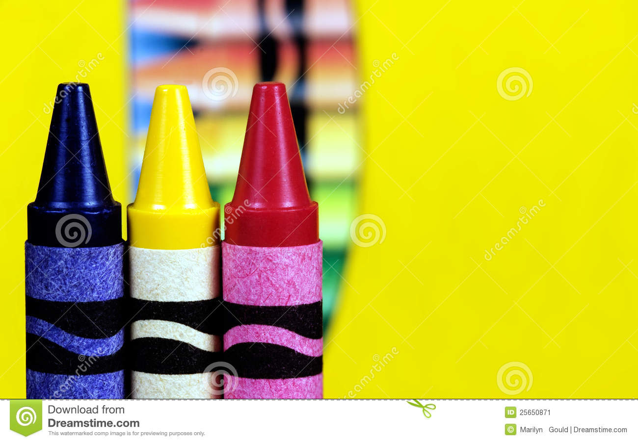 Primary Color Crayons Stock Image Image Of Primary Three