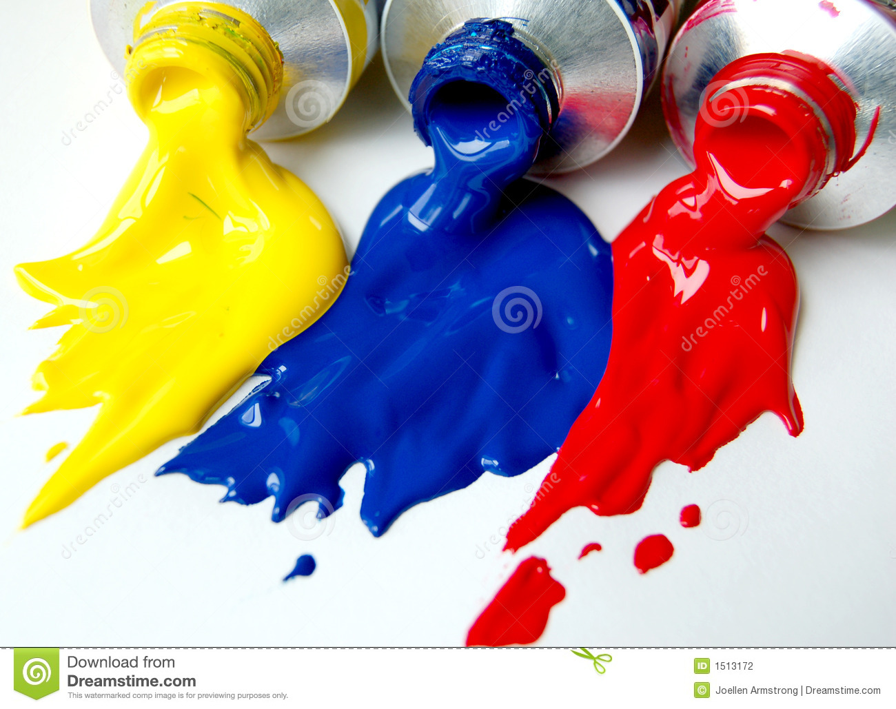 Primary Colours Of Paint Are Red Blue And Yellow