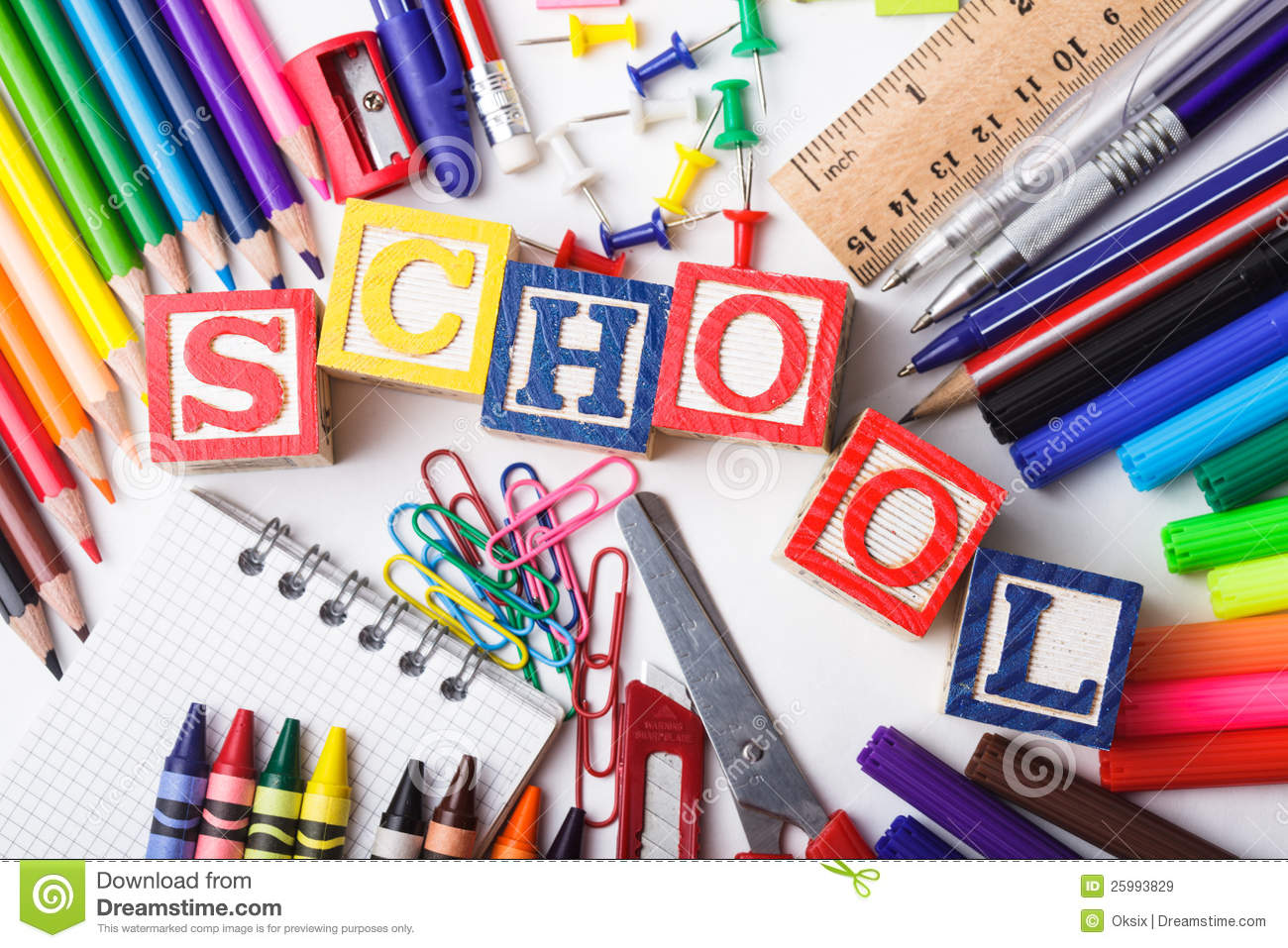Primary School Stationery Royalty Free Stock Images - Image: 25993829
