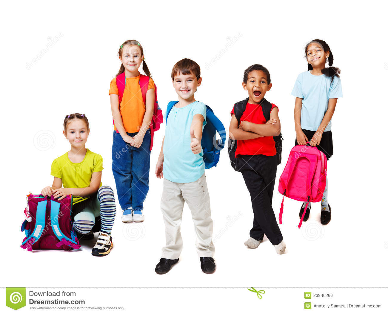 Primary School Students Stock Photo Image Of Little 23940266