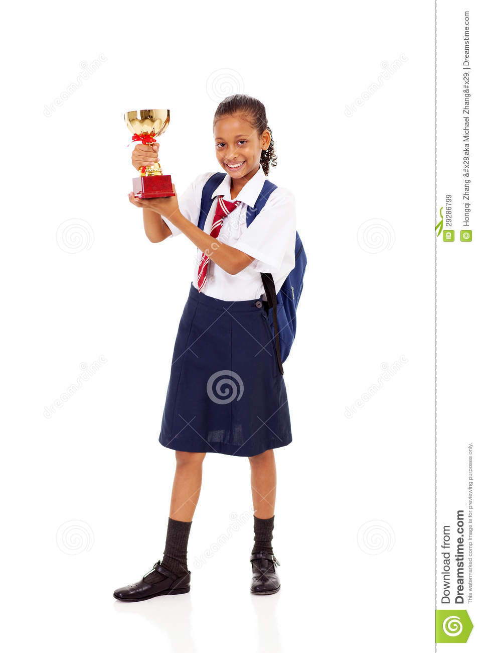 Primary Schoolgirl Trophy Royalty Free Stock Images - Image: 29286799