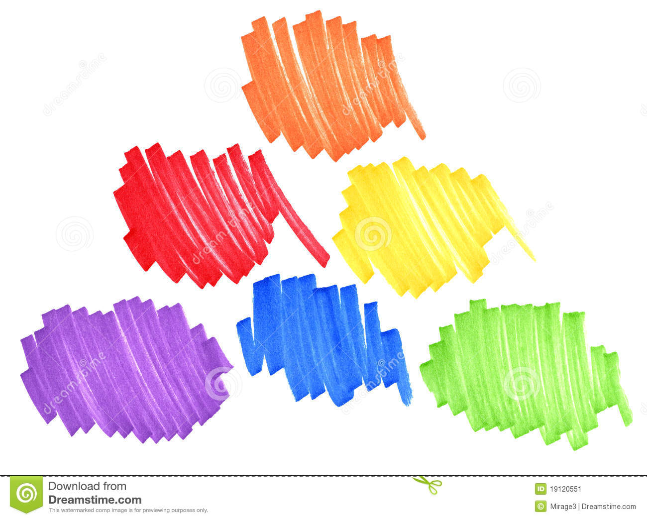 Primary And Secondary Colors Stock Image