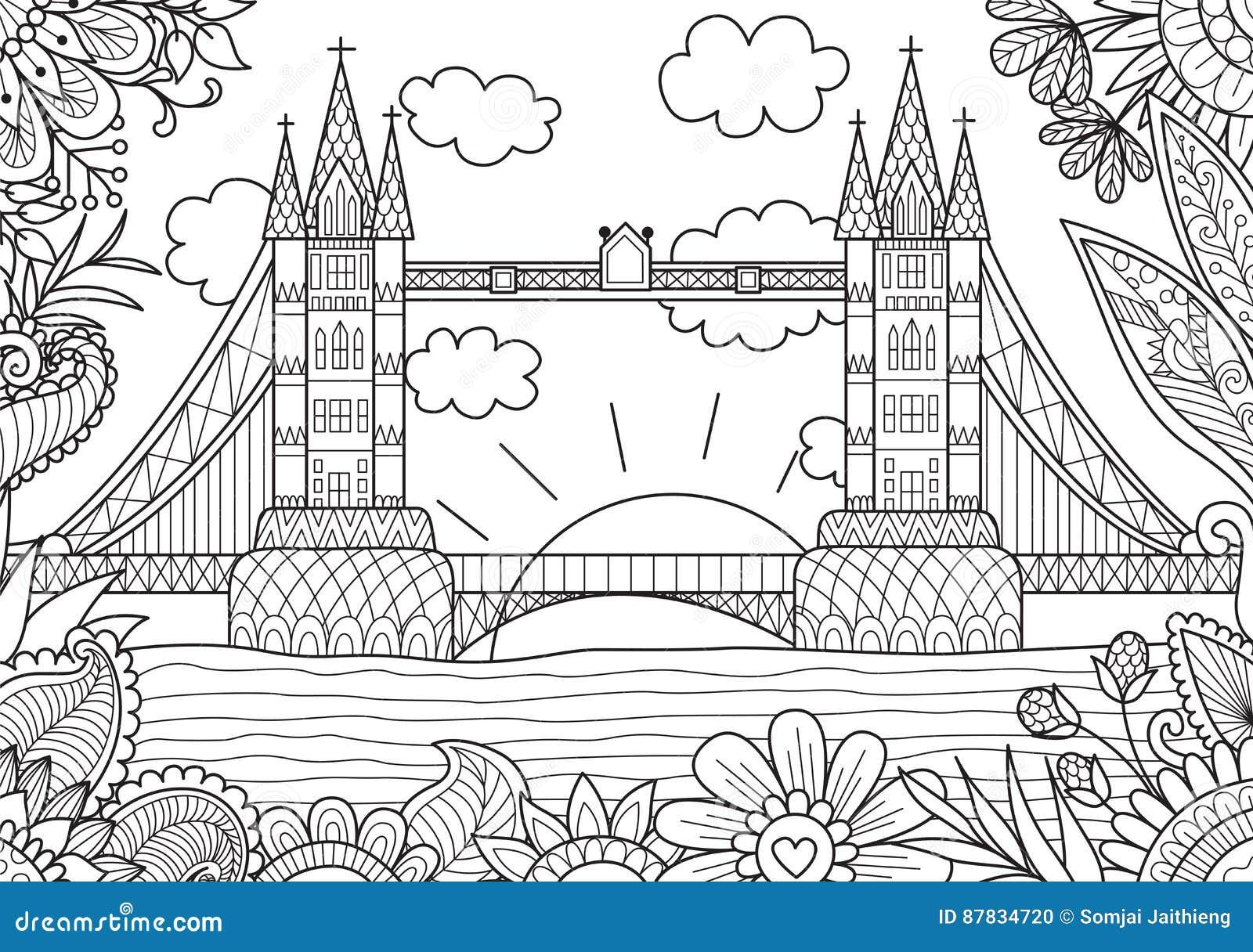 Immagini Di Londra Da Colorare.Primavera A Londra Illustrazione Vettoriale Illustrazione Di
