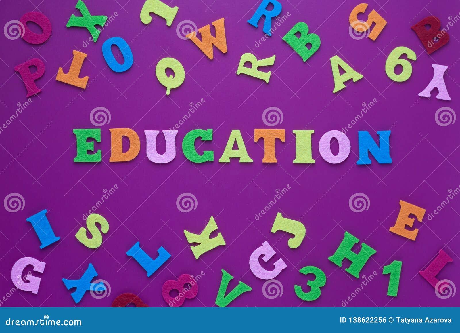 Primer abstracto del fondo púrpura de la educación de la inscripción para el diseño de la decoración educación de la inscripción